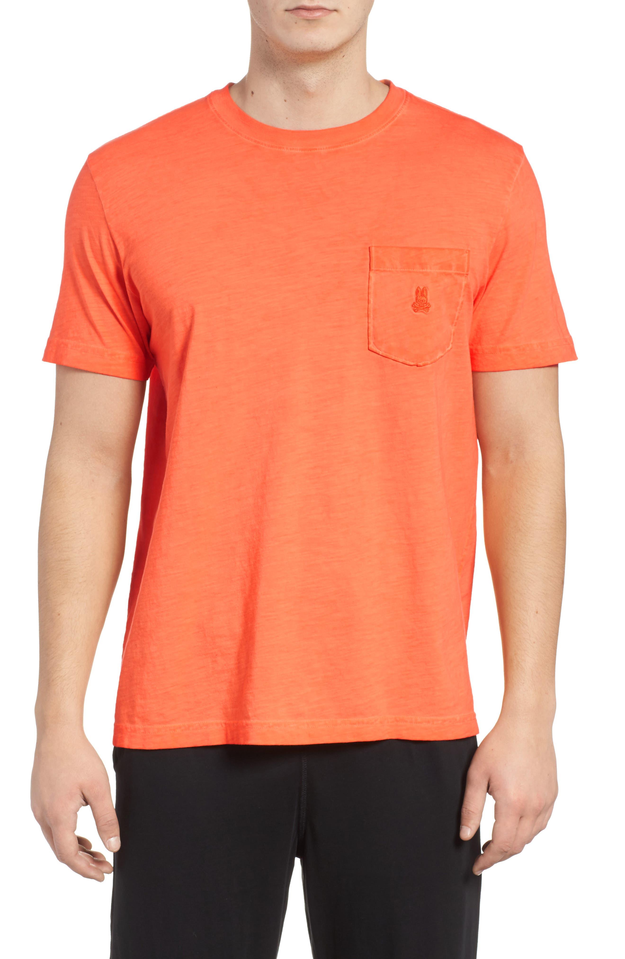 Sunwash Pocket T-Shirt,                         Main,                         color, Mango