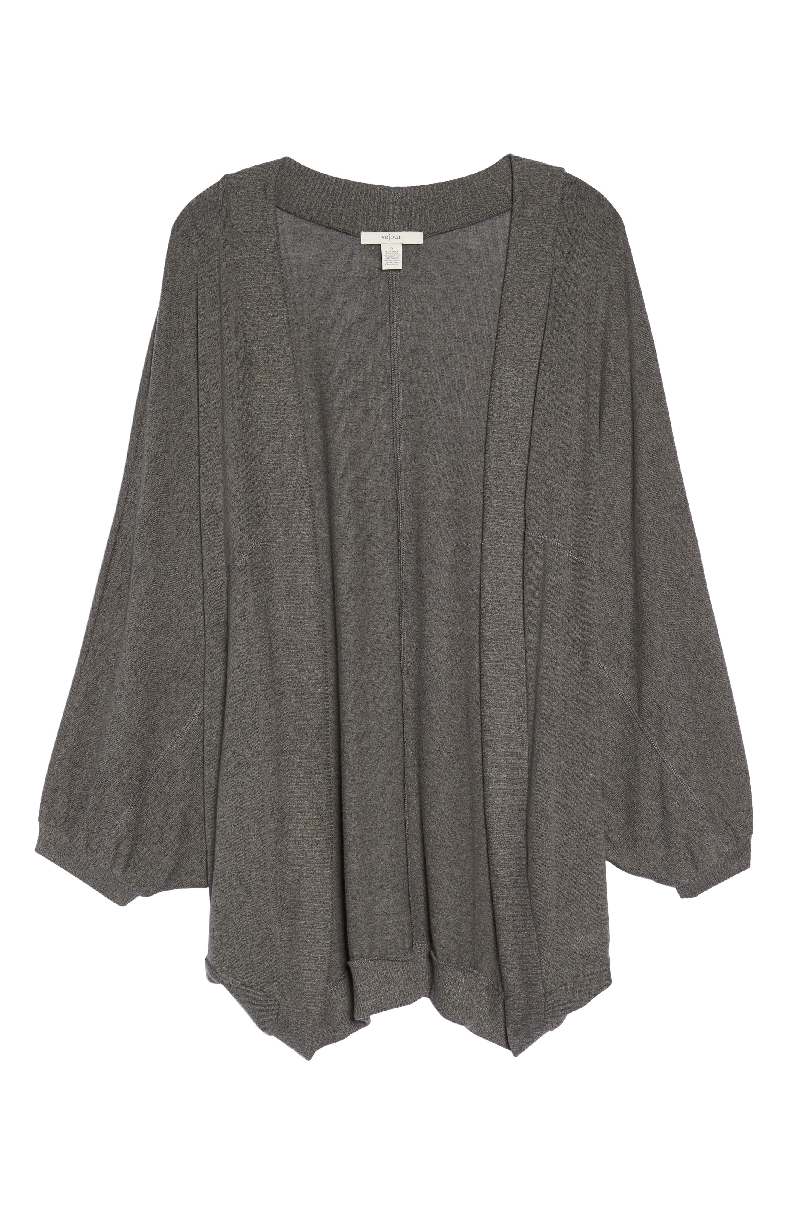 Hacci Cocoon Cardigan,                             Alternate thumbnail 6, color,                             Grey Medium Charcoal Heather
