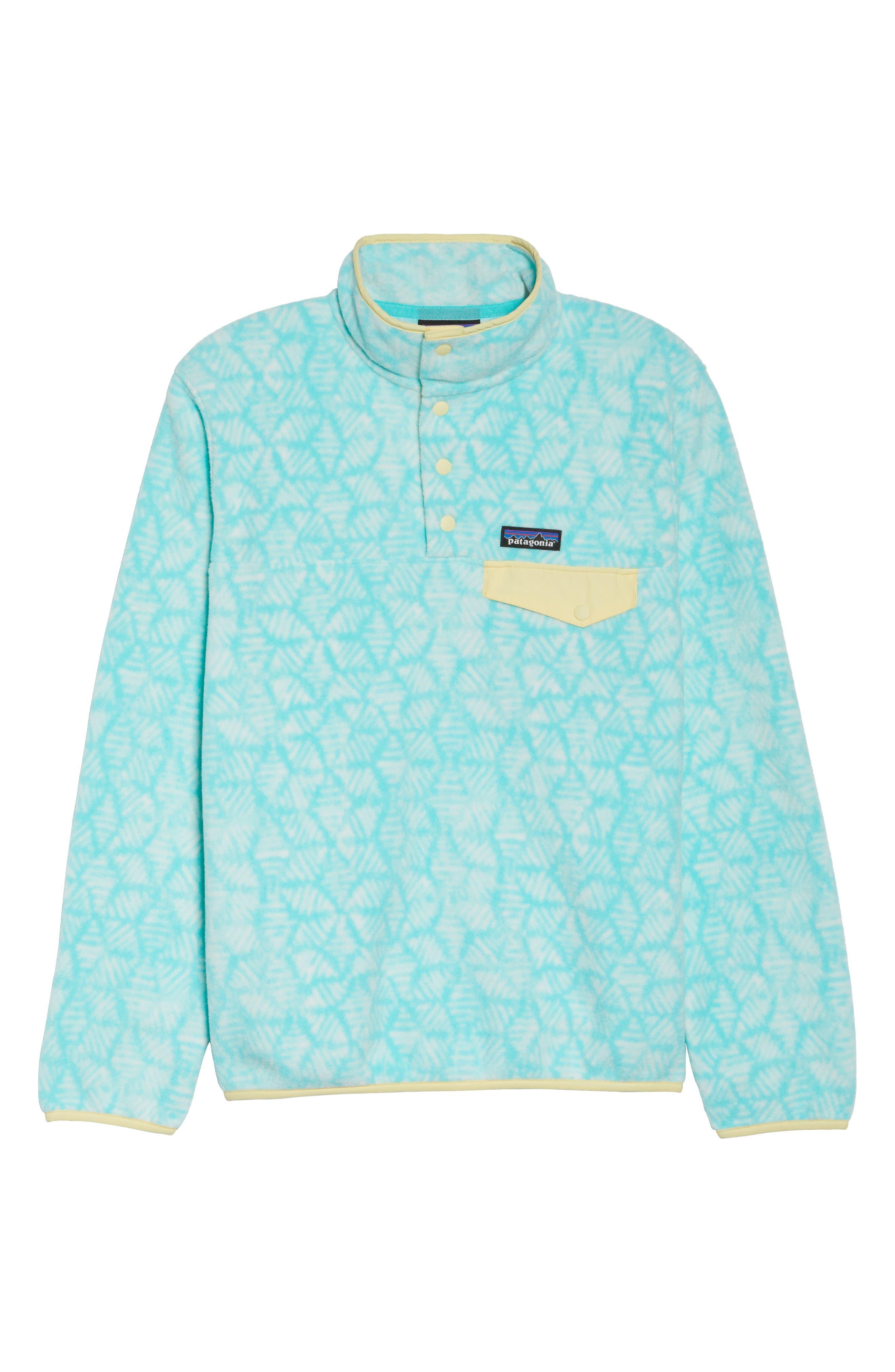 Synchilla Snap-T<sup>®</sup> Fleece Pullover,                             Alternate thumbnail 7, color,                             Batik Hex Big/ Bend Blue