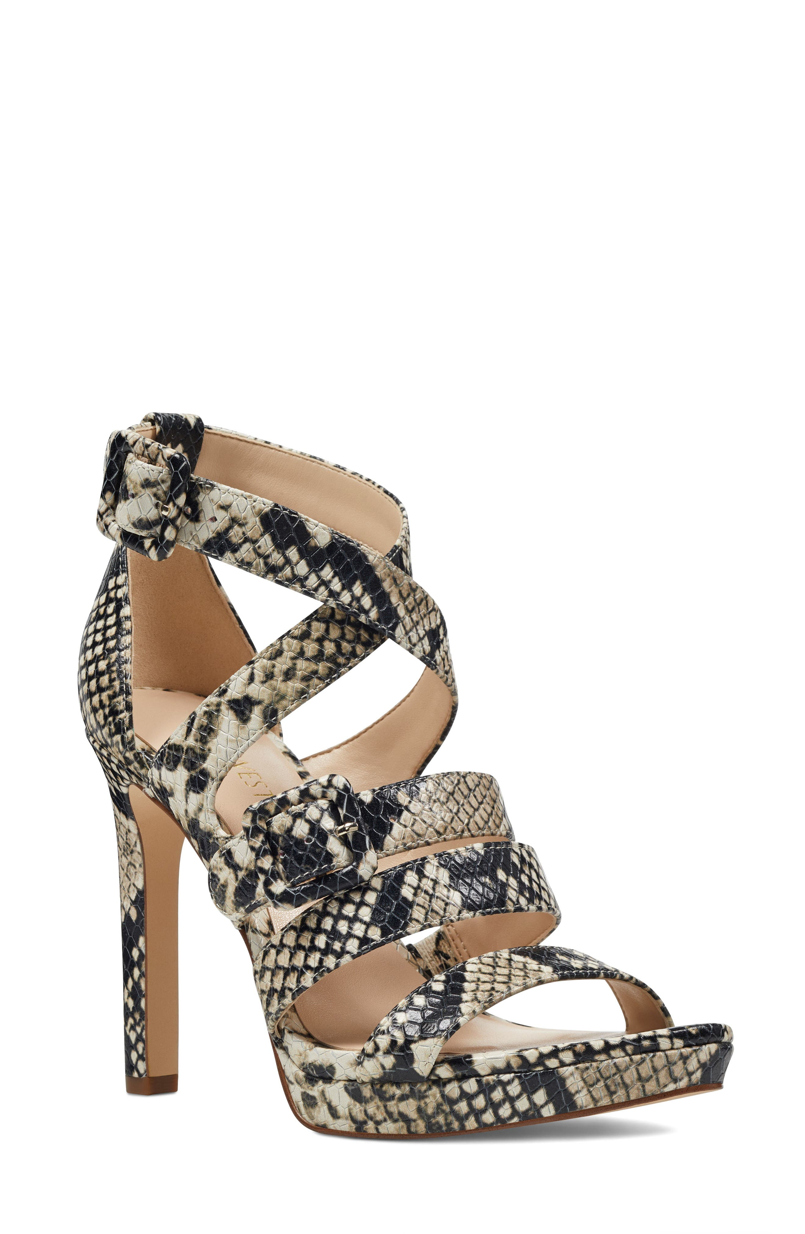 Tarykah Strappy Sandal,                         Main,                         color, Off White Leather