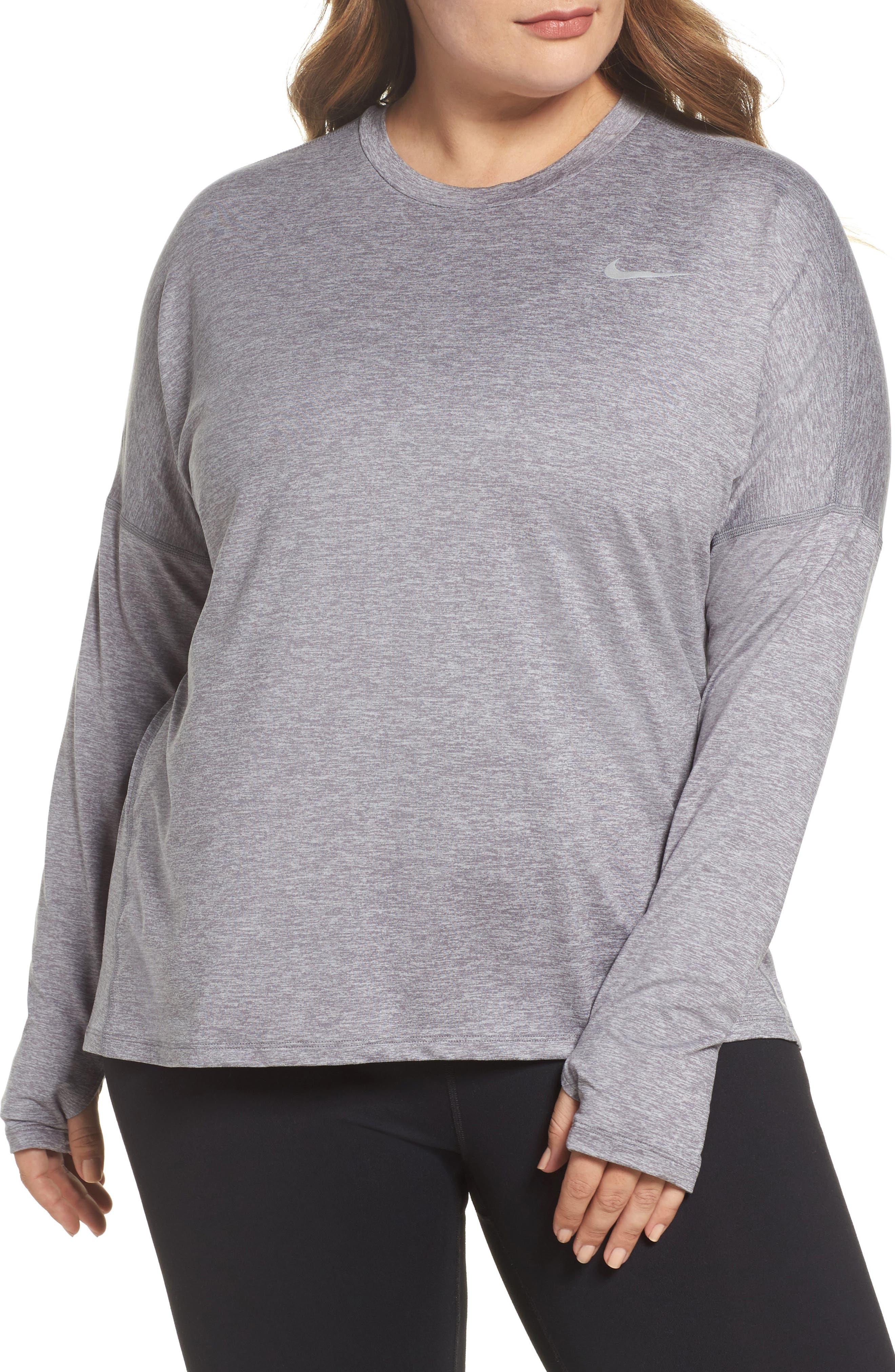Dry Element Long Sleeve Top,                         Main,                         color, Gunsmoke/ Atmosphere Grey