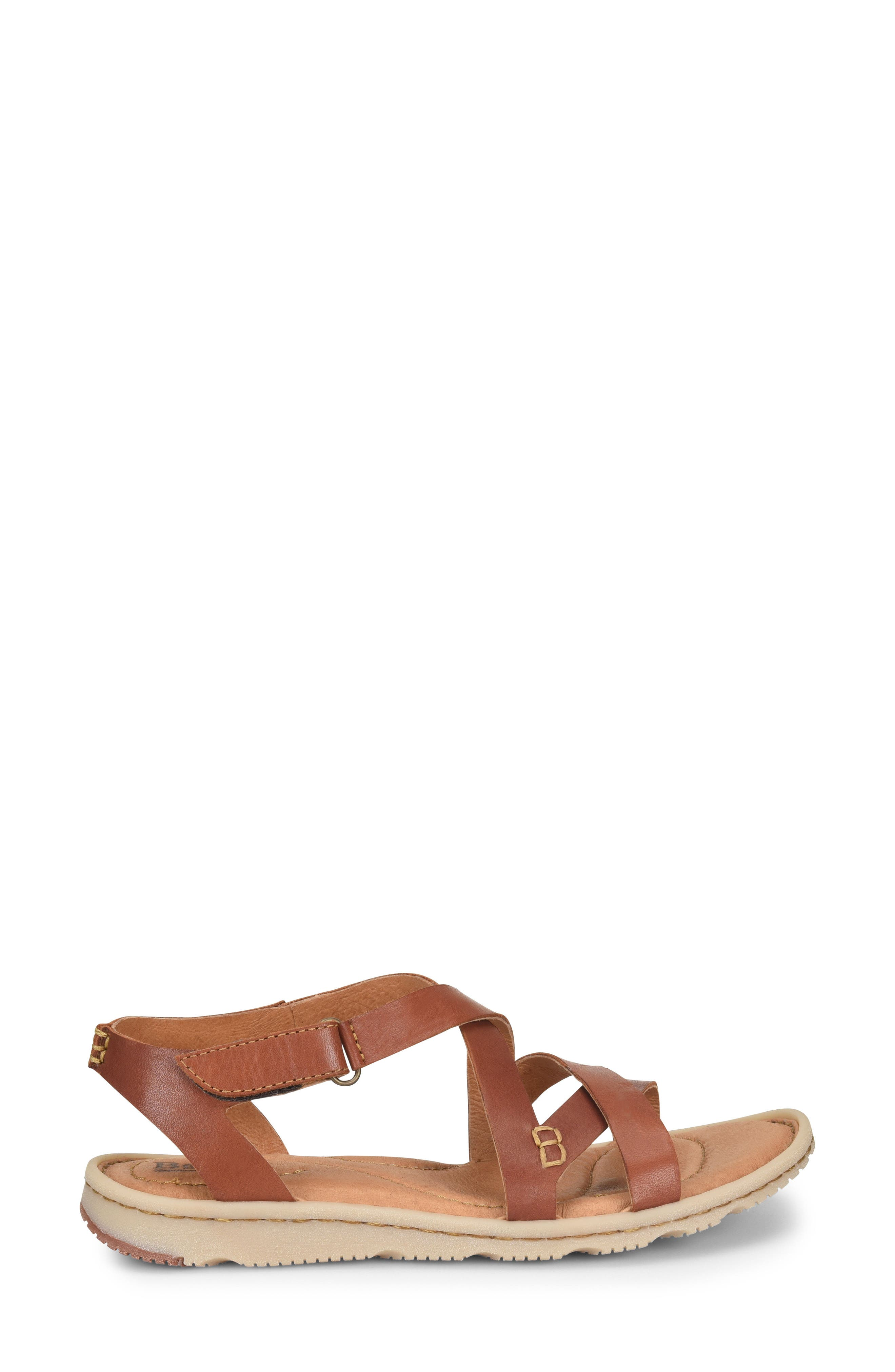 Trinidad Sandal,                             Alternate thumbnail 3, color,                             Brown Leather