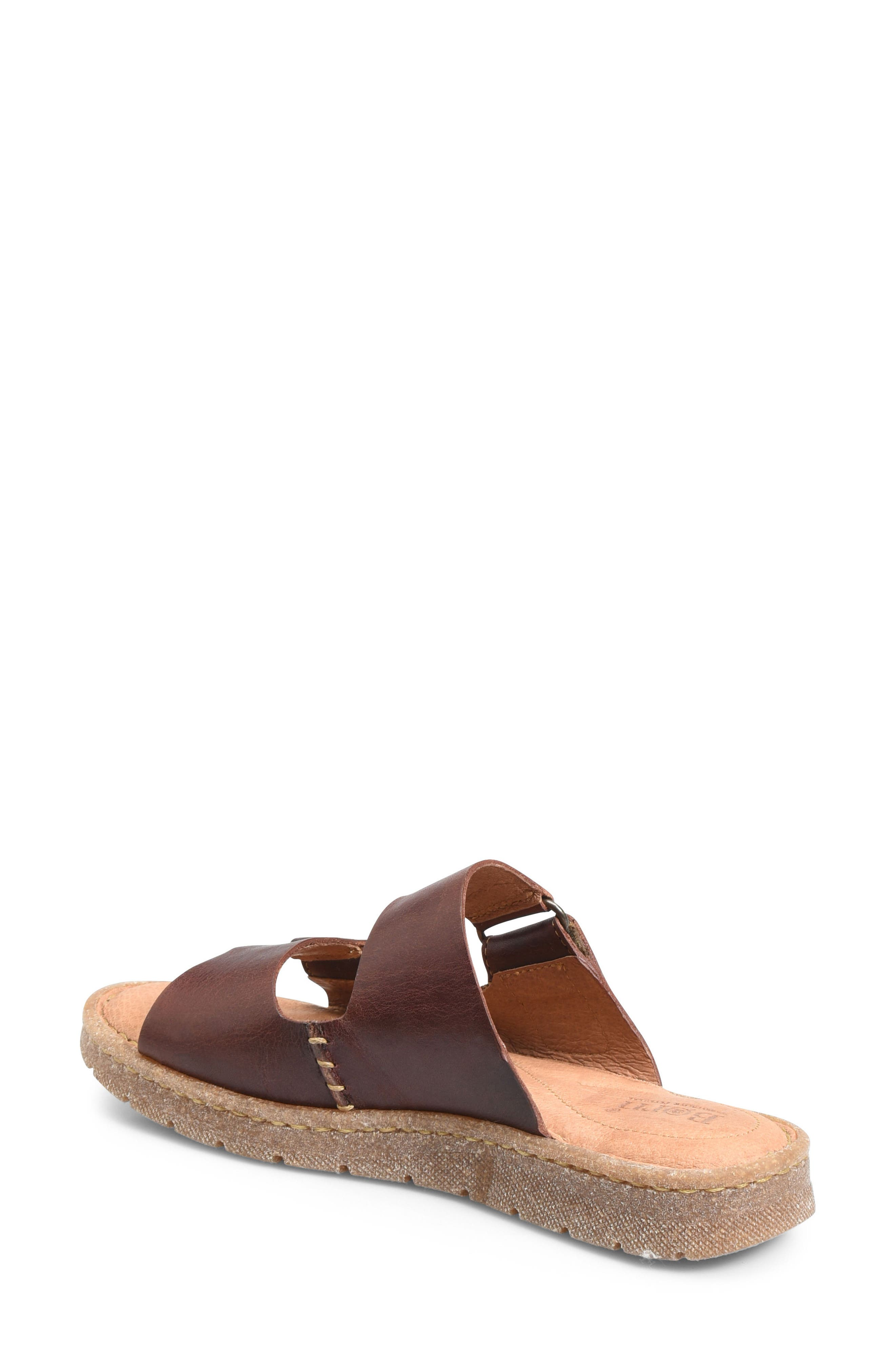 Dominica Sandal,                             Alternate thumbnail 2, color,                             Rust Leather