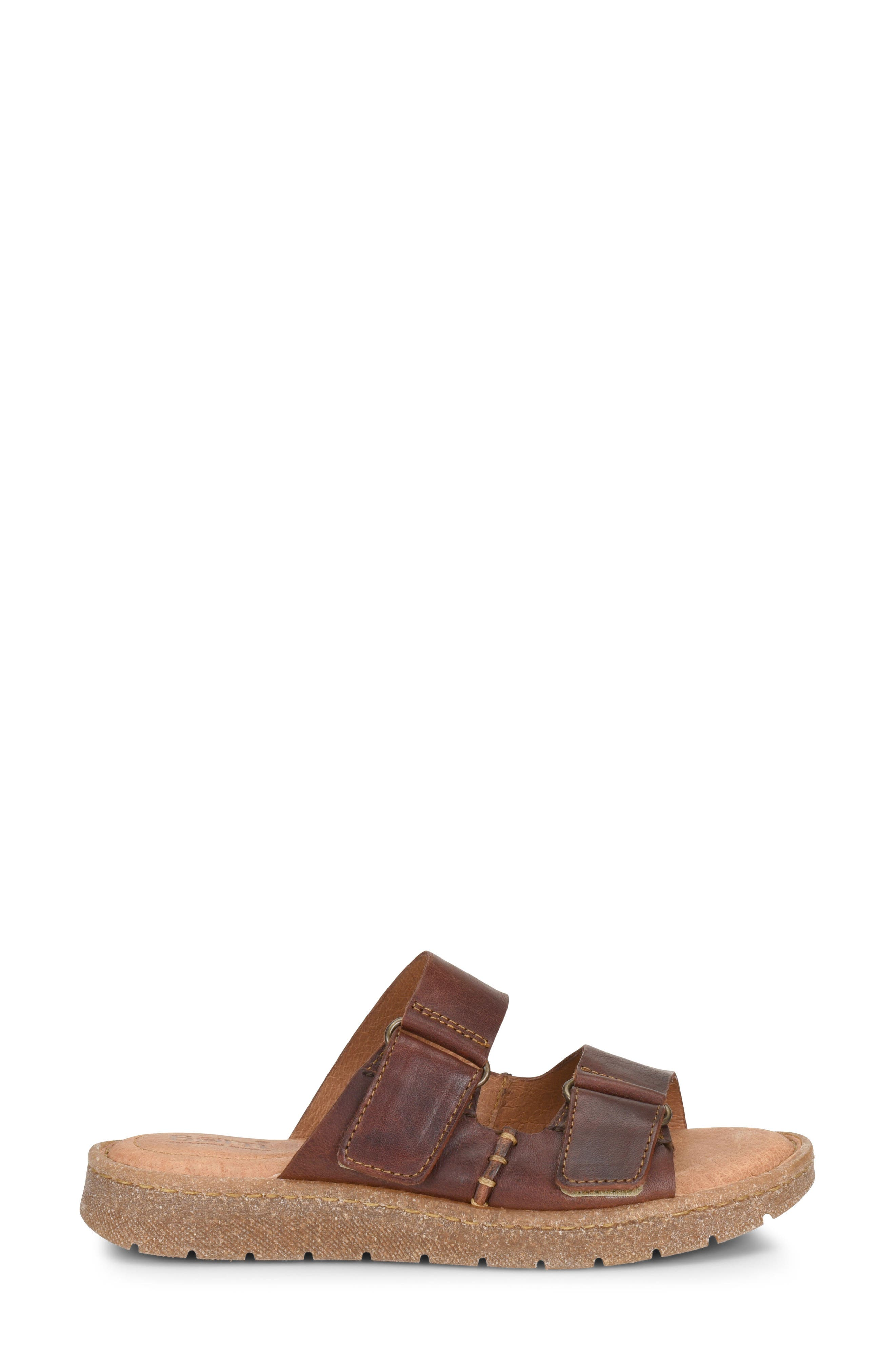 Dominica Sandal,                             Alternate thumbnail 3, color,                             Rust Leather