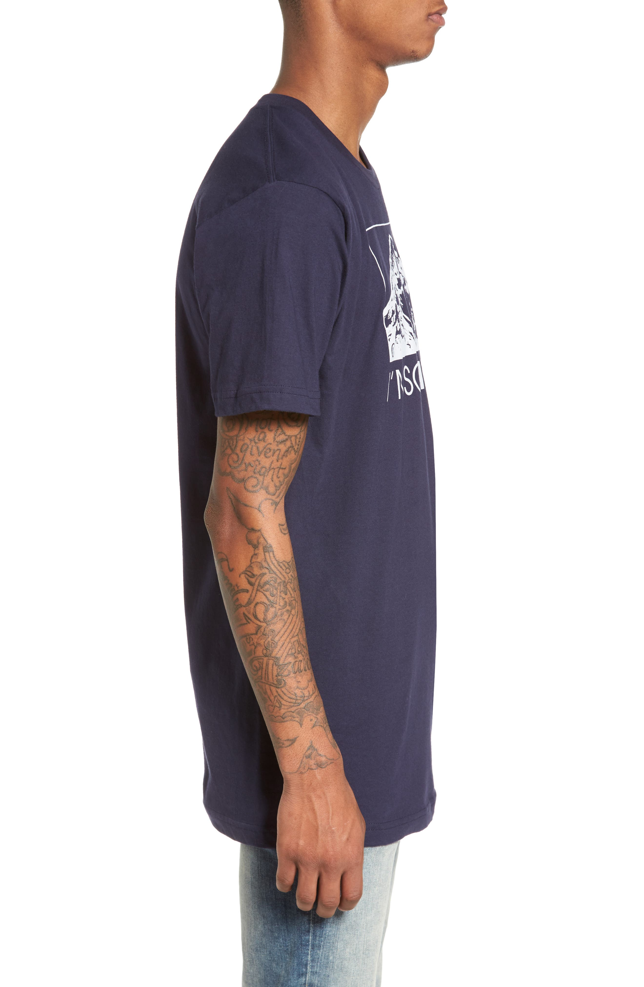 I'm So Hood T-Shirt,                             Alternate thumbnail 3, color,                             Navy Blue