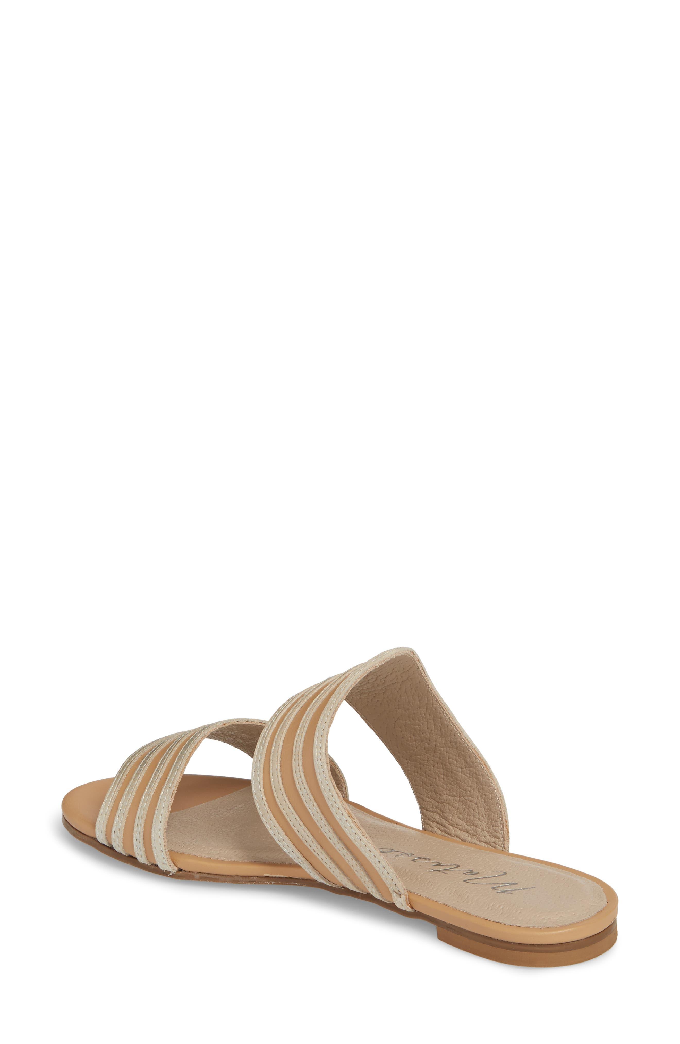 Russo Slide Sandal,                             Alternate thumbnail 2, color,                             Natural/ Silver Leather