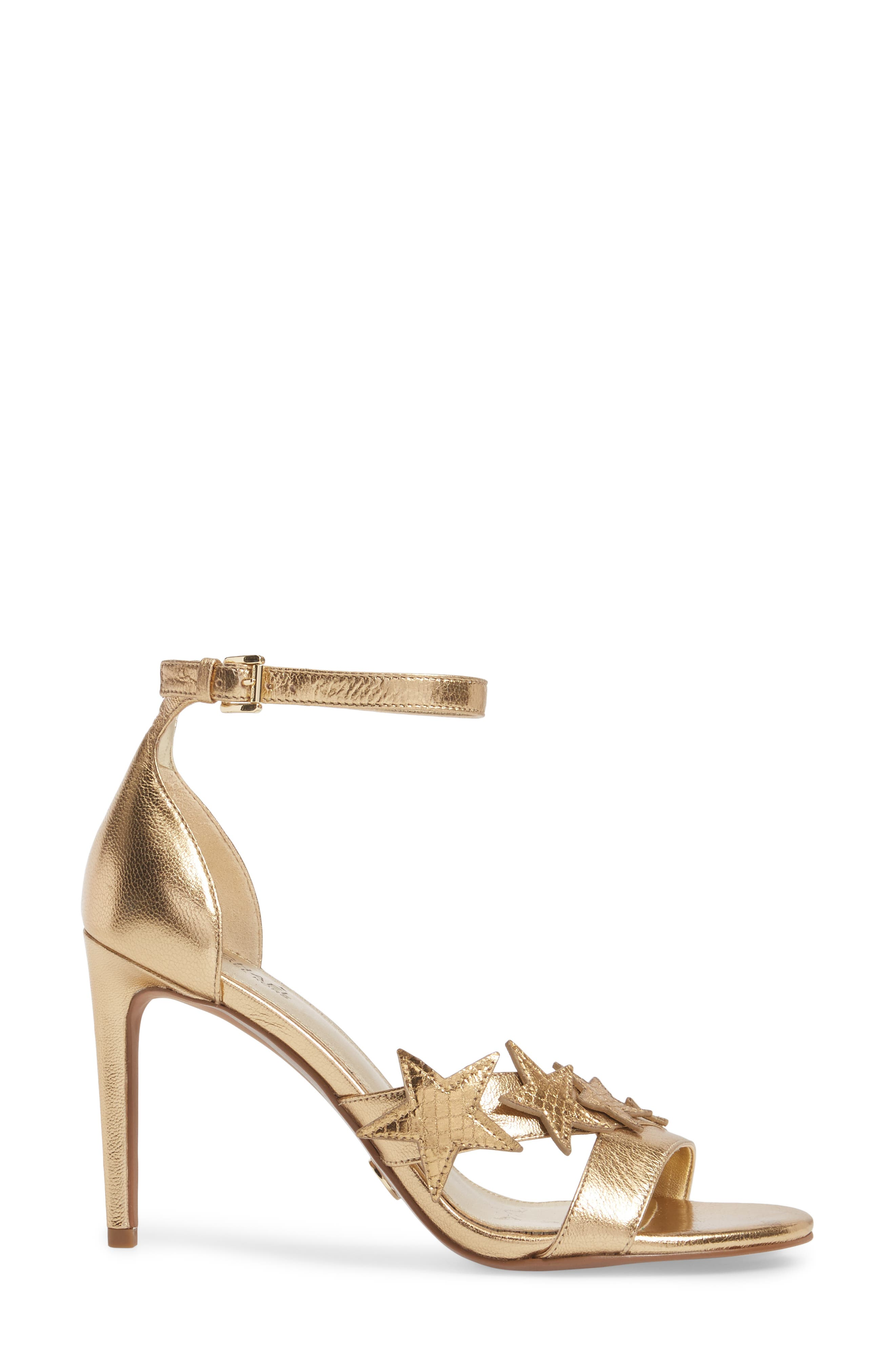 Lexie Sandal,                             Alternate thumbnail 3, color,                             Pale Gold Nappa Leather