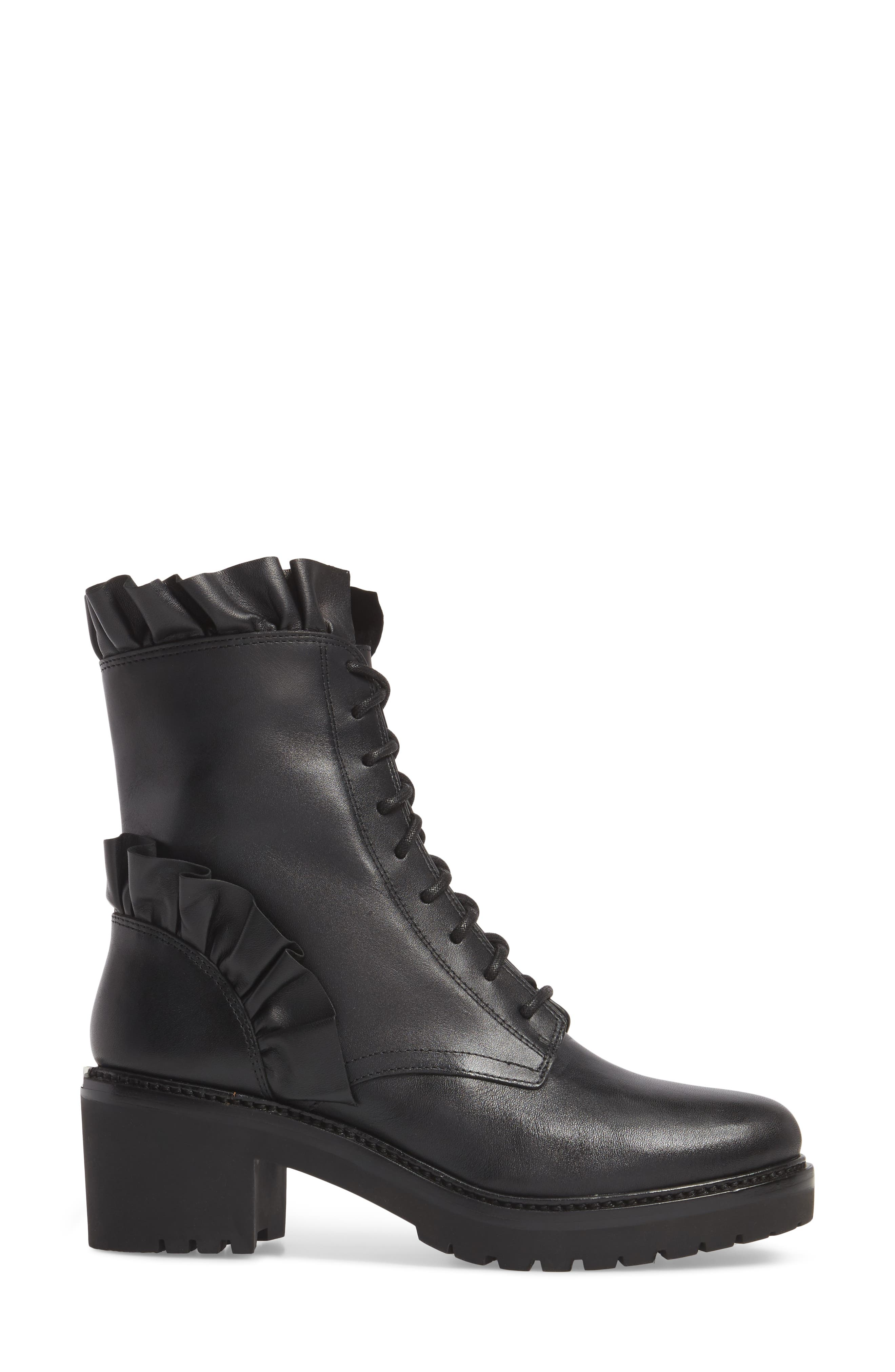 Bella Boot,                             Alternate thumbnail 3, color,                             Black Nappa Leather
