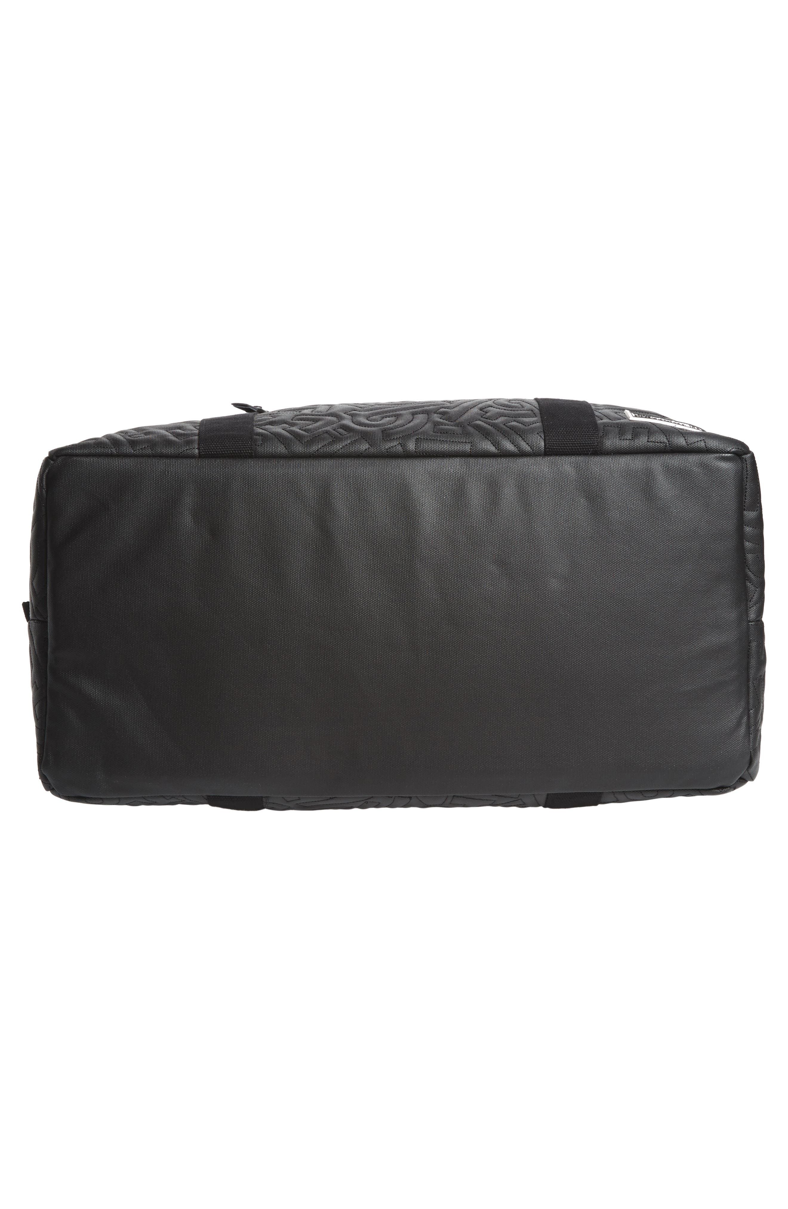 x Aaron De La Cruz Drifter Duffel Bag,                             Alternate thumbnail 6, color,                             Black Quilt