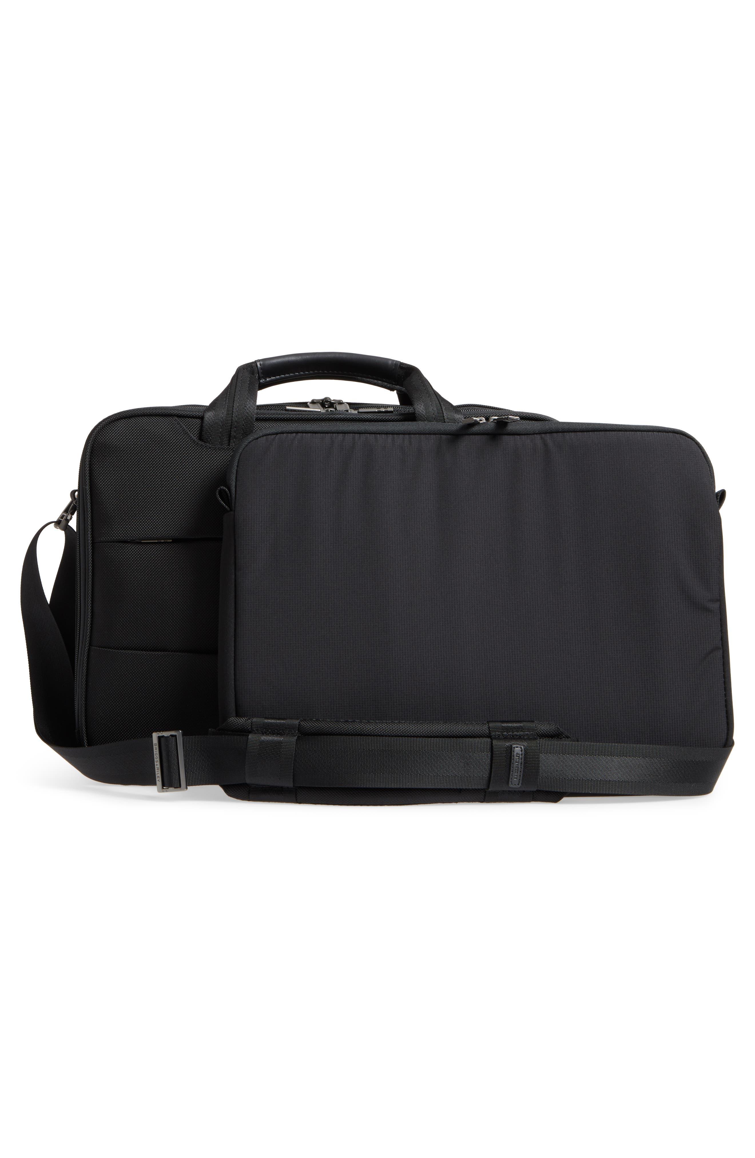 'Medium' Ballistic Nylon Briefcase,                             Alternate thumbnail 3, color,                             Black