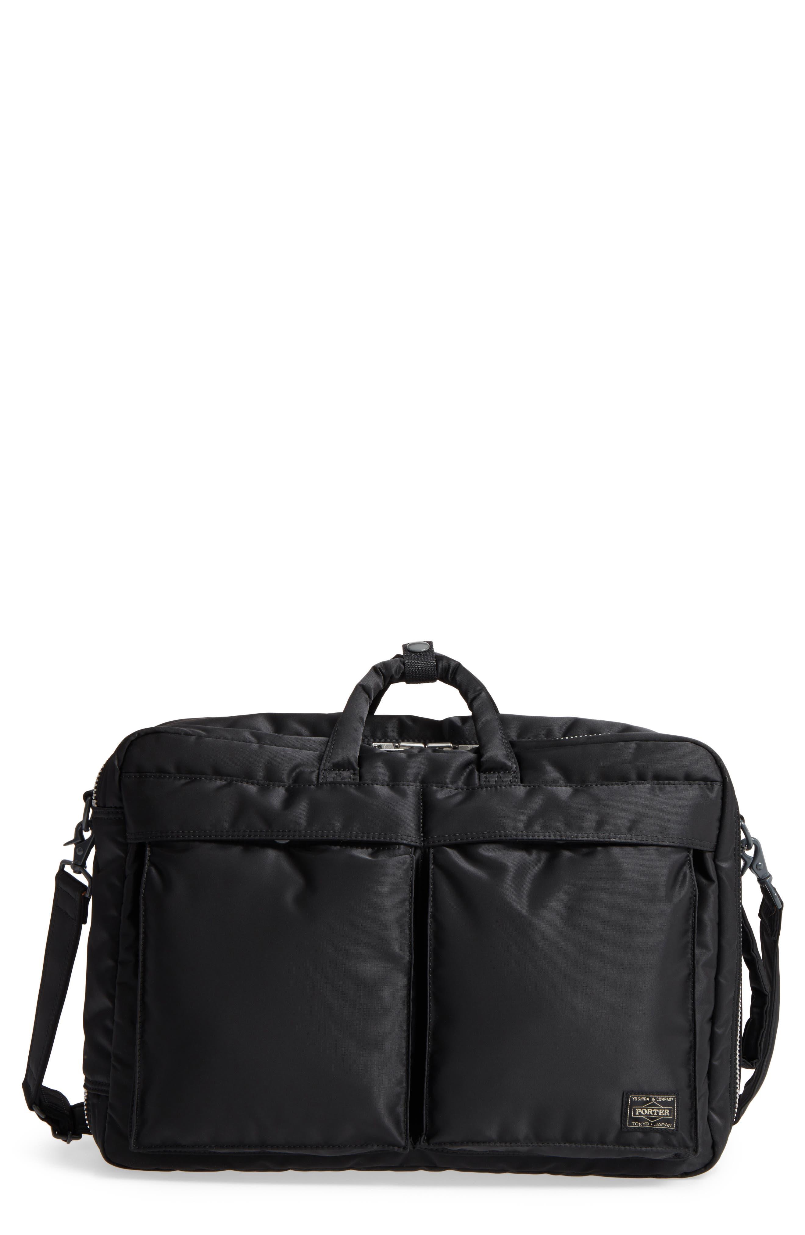 Porter-Yoshida & Co. Tanker Three-Way Briefcase,                         Main,                         color, Black