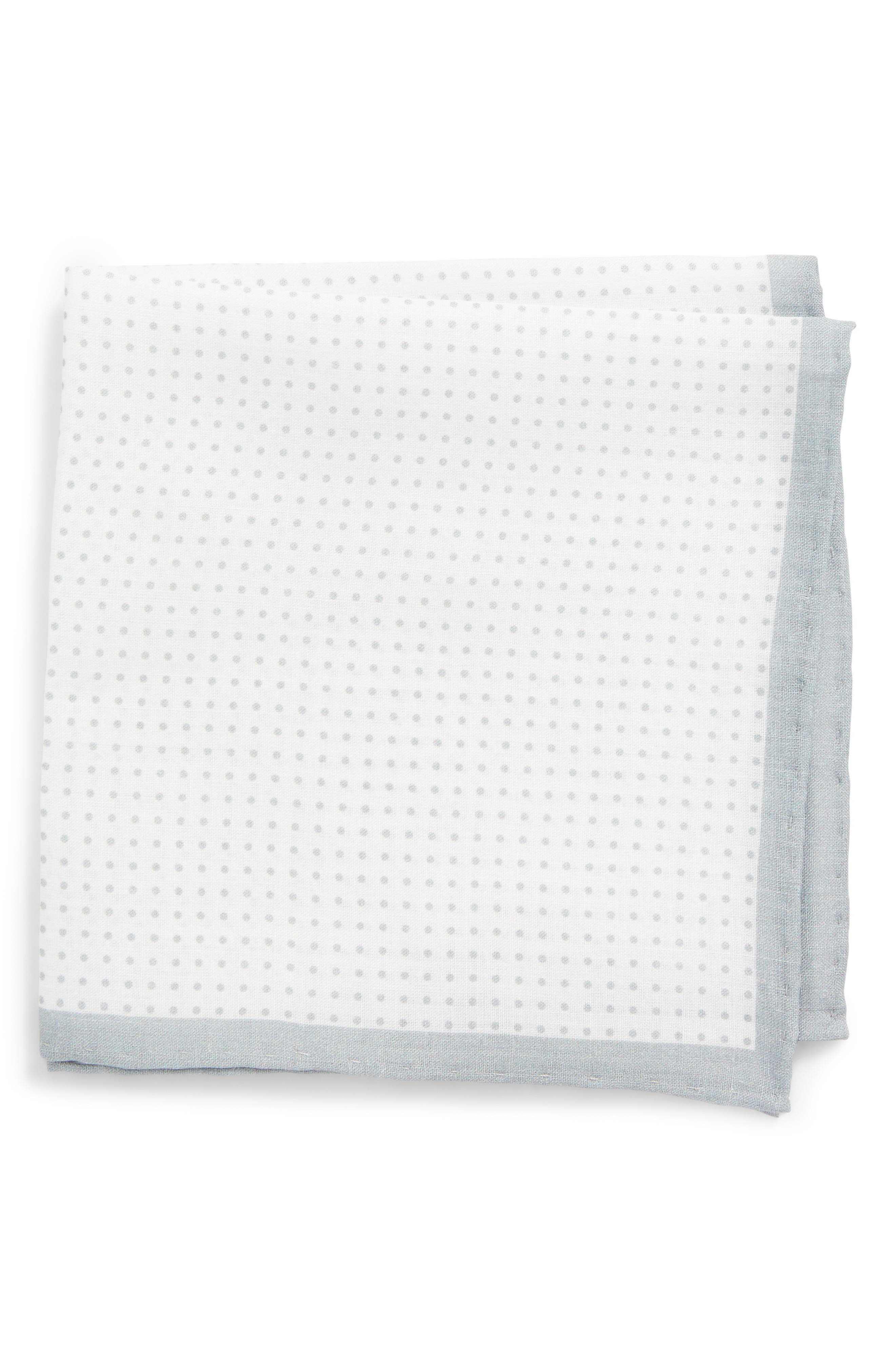 Main Image - The Tie Bar Domino Dot Linen Pocket Square