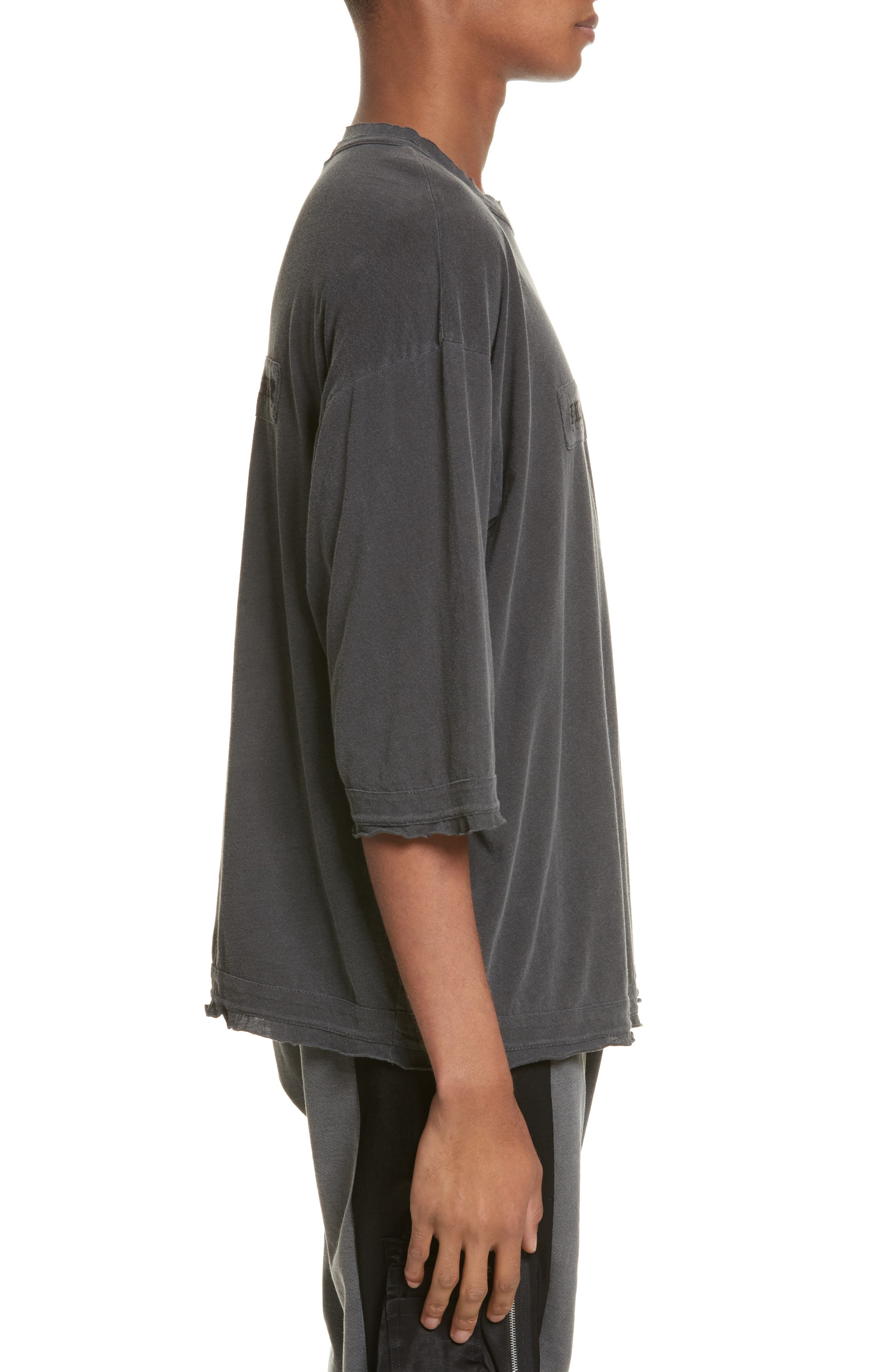 Eshu Oversize T-Shirt,                             Alternate thumbnail 3, color,                             Black Pigment