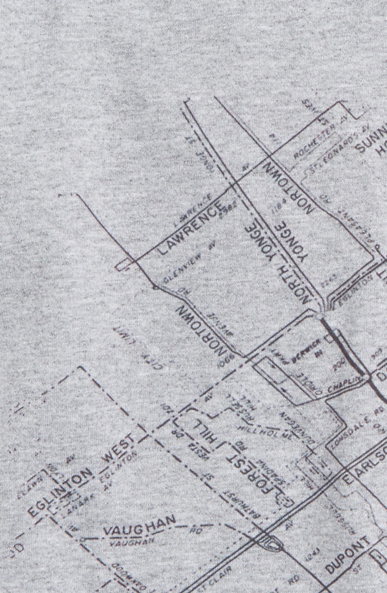 Alternate Image 2  - Kid Dangerous Toronto Map Graphic T-Shirt (Toddler Boys & Little Boys)