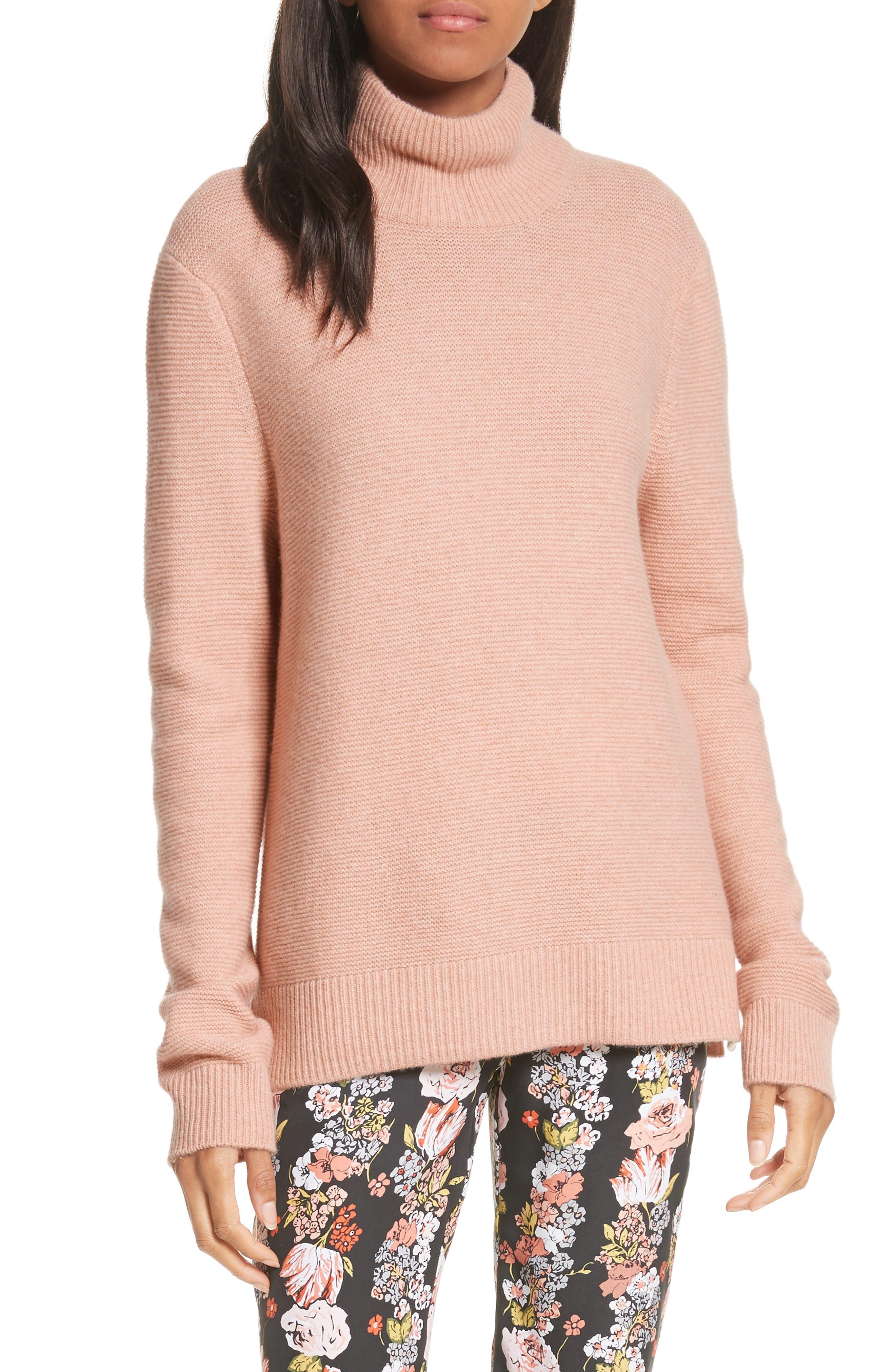 Chandler Wool-Blend Turtleneck Sweater,                         Main,                         color, Bellini