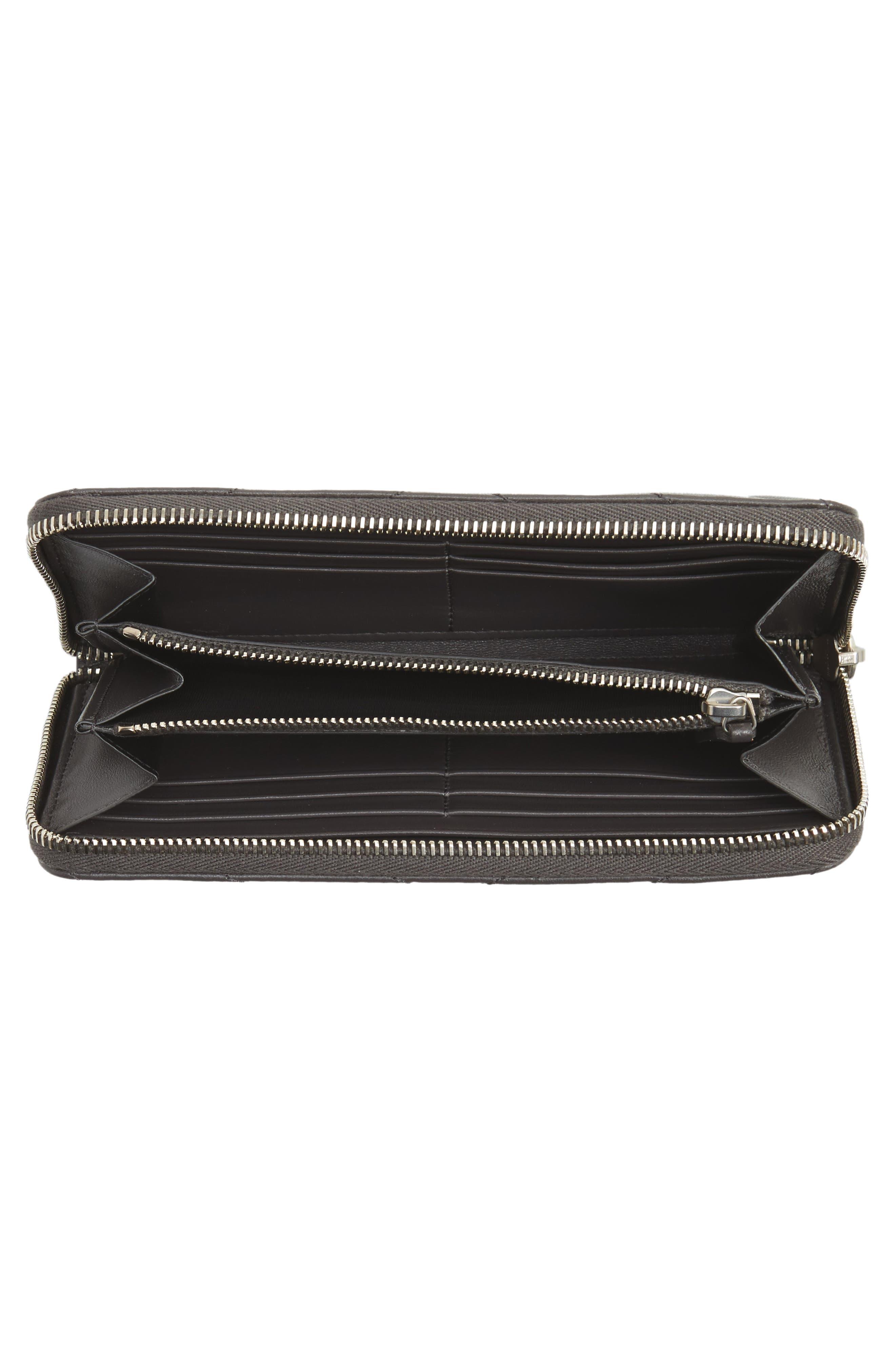 Alternate Image 2  - Saint Laurent Loulou Matelassé Leather Zip-Around Wallet