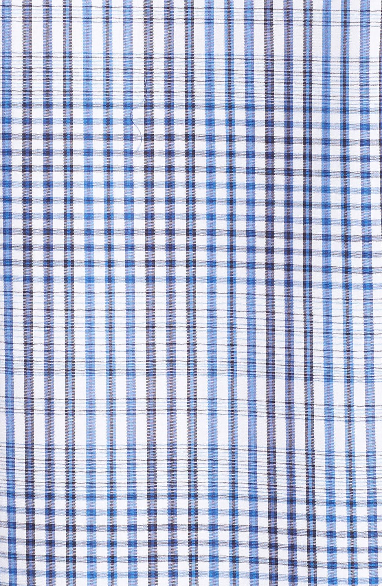 Classic Fit Plaid Sport Shirt,                             Alternate thumbnail 5, color,                             Classic Blue