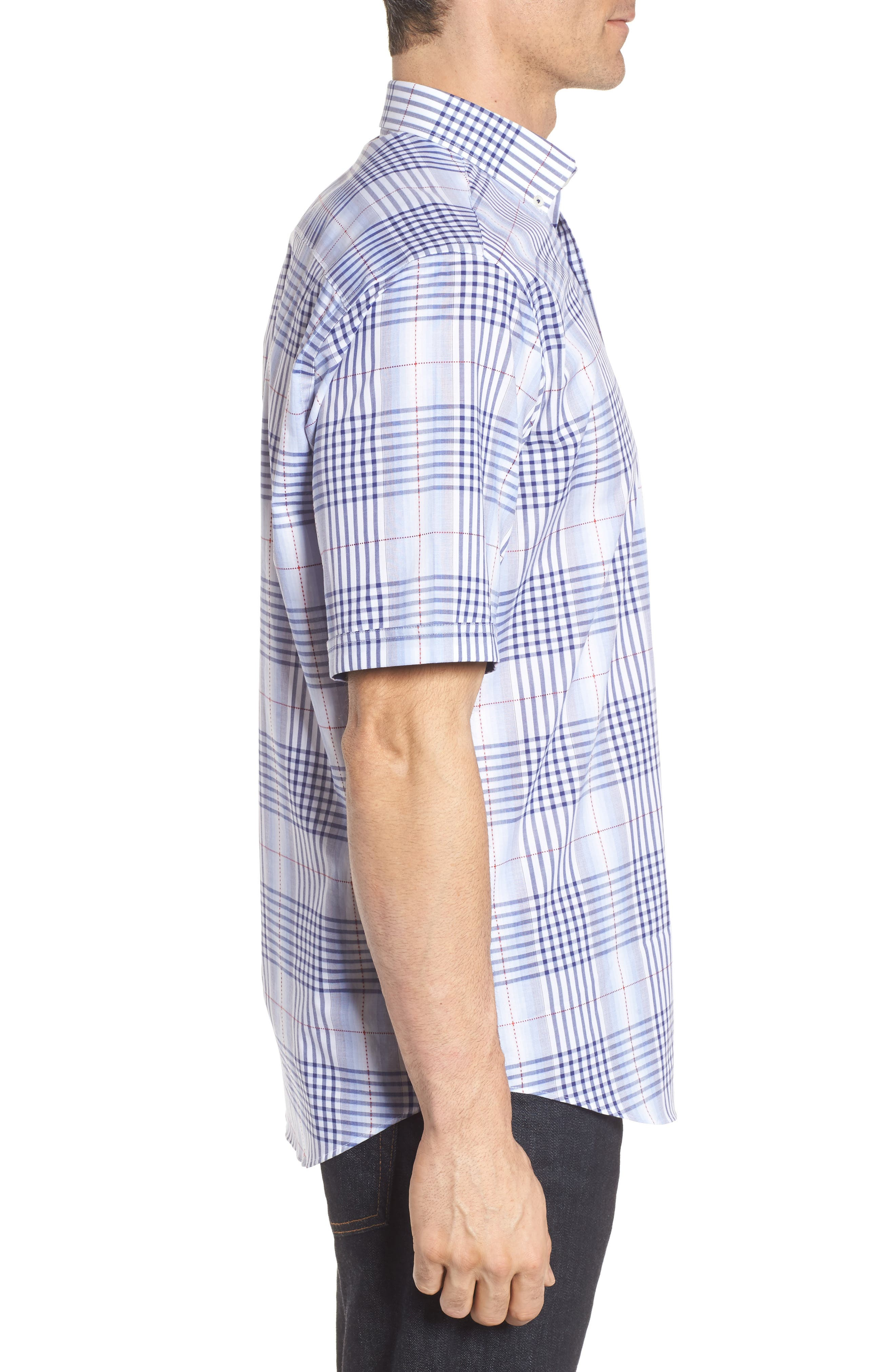 Alternate Image 3  - Bugatchi Classic Fit Plaid Sport Shirt