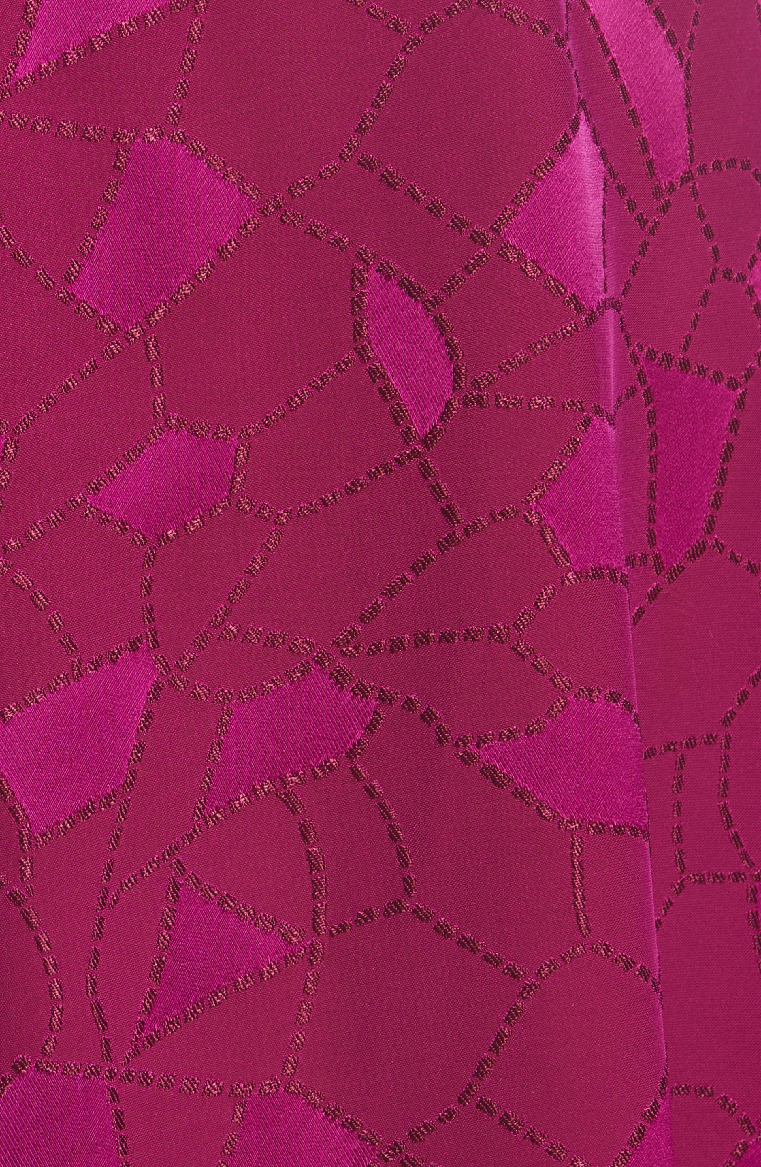 Mosaic Jacquard Midi Skirt,                             Alternate thumbnail 6, color,                             Pink
