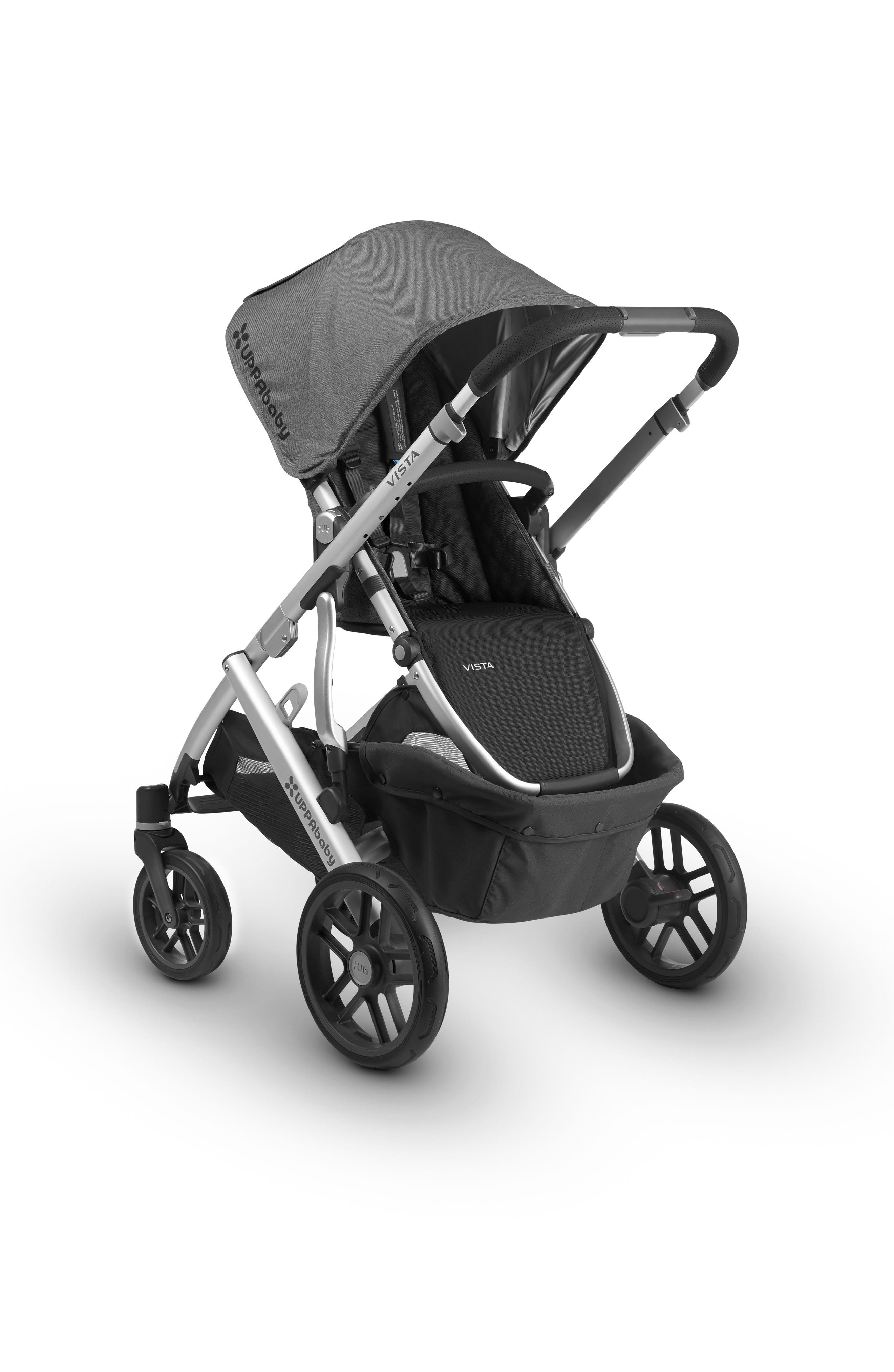 Alternate Image 4  - UPPAbaby 2018 VISTA Aluminum Frame Convertible Complete Stroller with Leather Trim