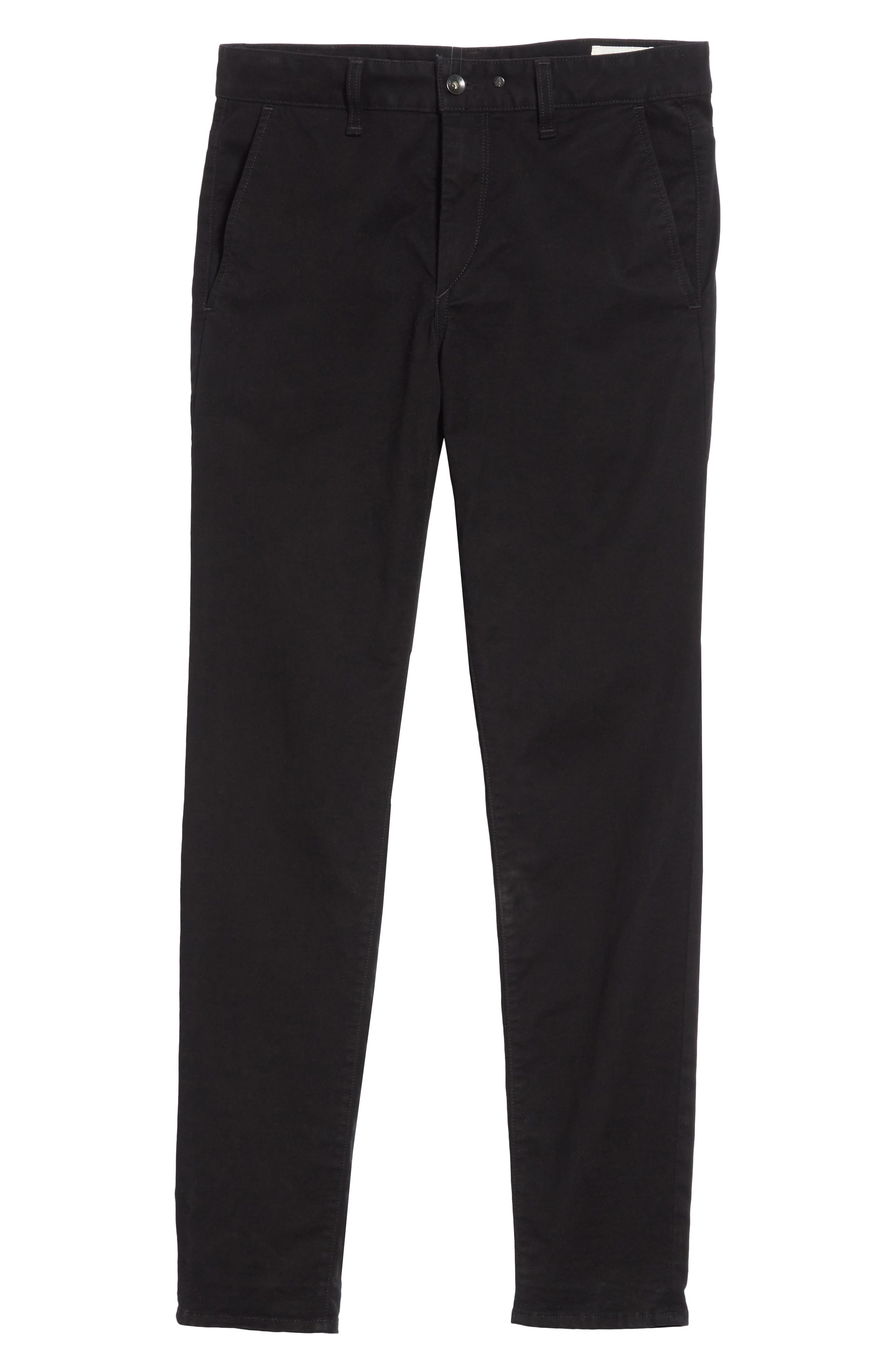 Fit 1 Chinos,                             Alternate thumbnail 6, color,                             Black
