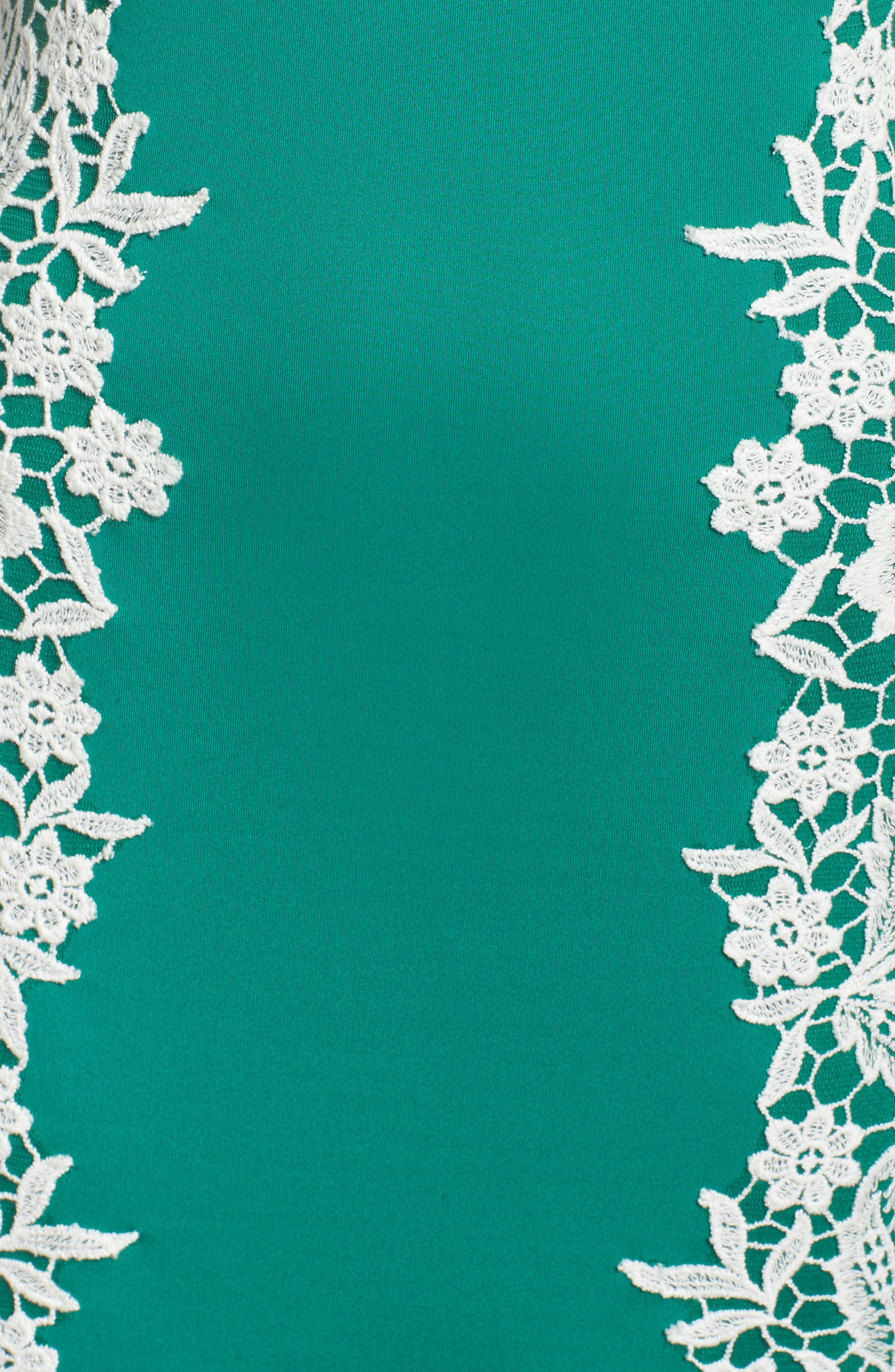 Alternate Image 5  - Tadashi Shoji Off the Shoulder Crochet & Neoprene Dress