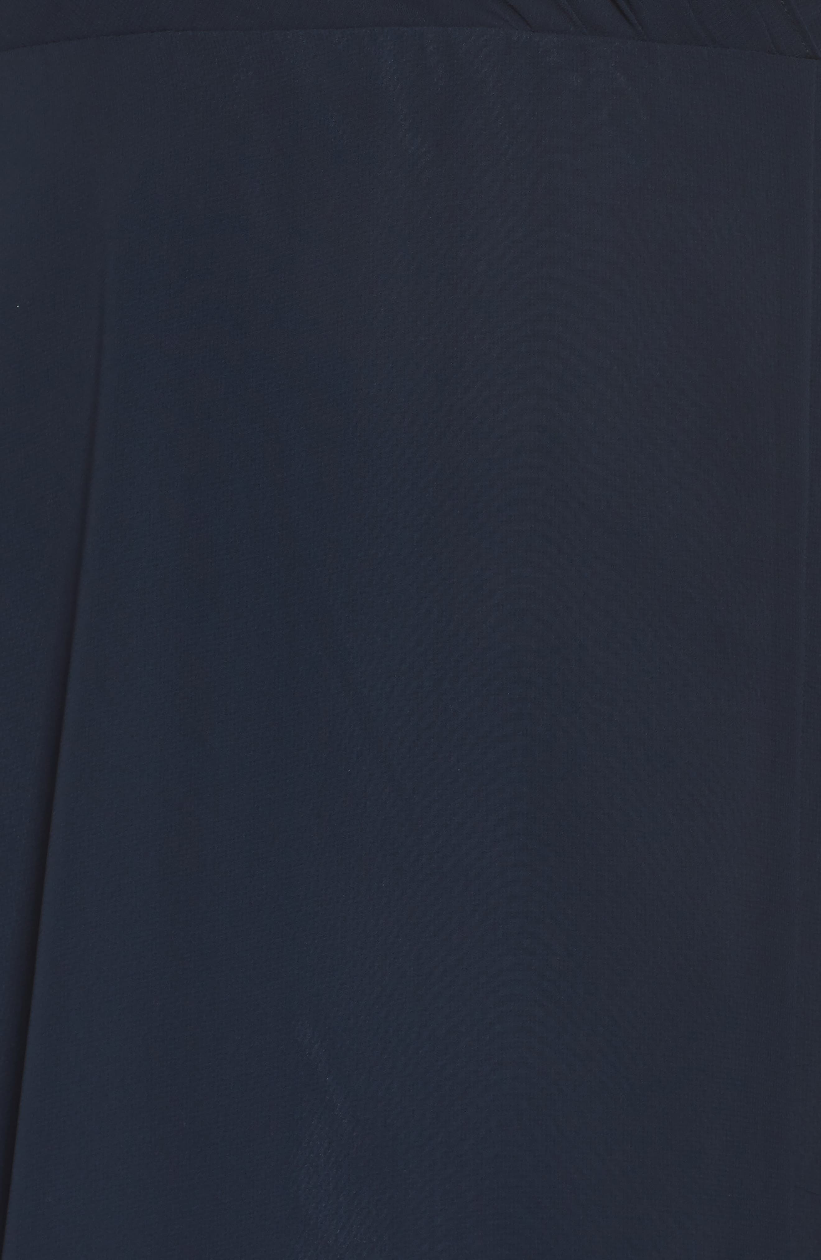 Alanna Open Back Chiffon Gown,                             Alternate thumbnail 5, color,                             Navy