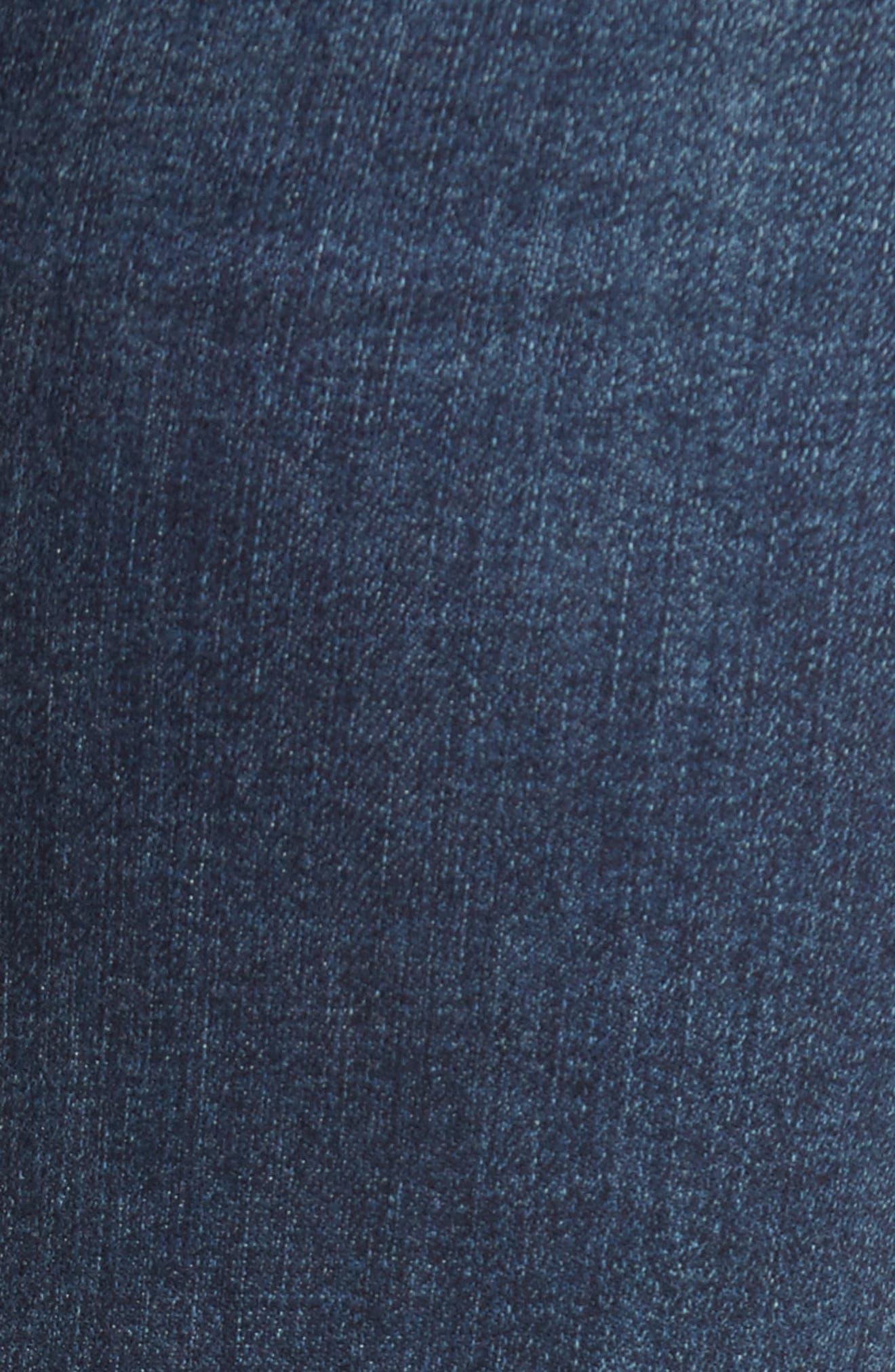 Ellie Step Hem Skinny Jeans,                             Alternate thumbnail 6, color,                             Floresta