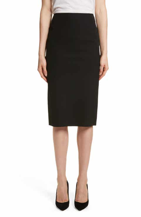 Theory Perform Tech Skinny Pencil Skirt
