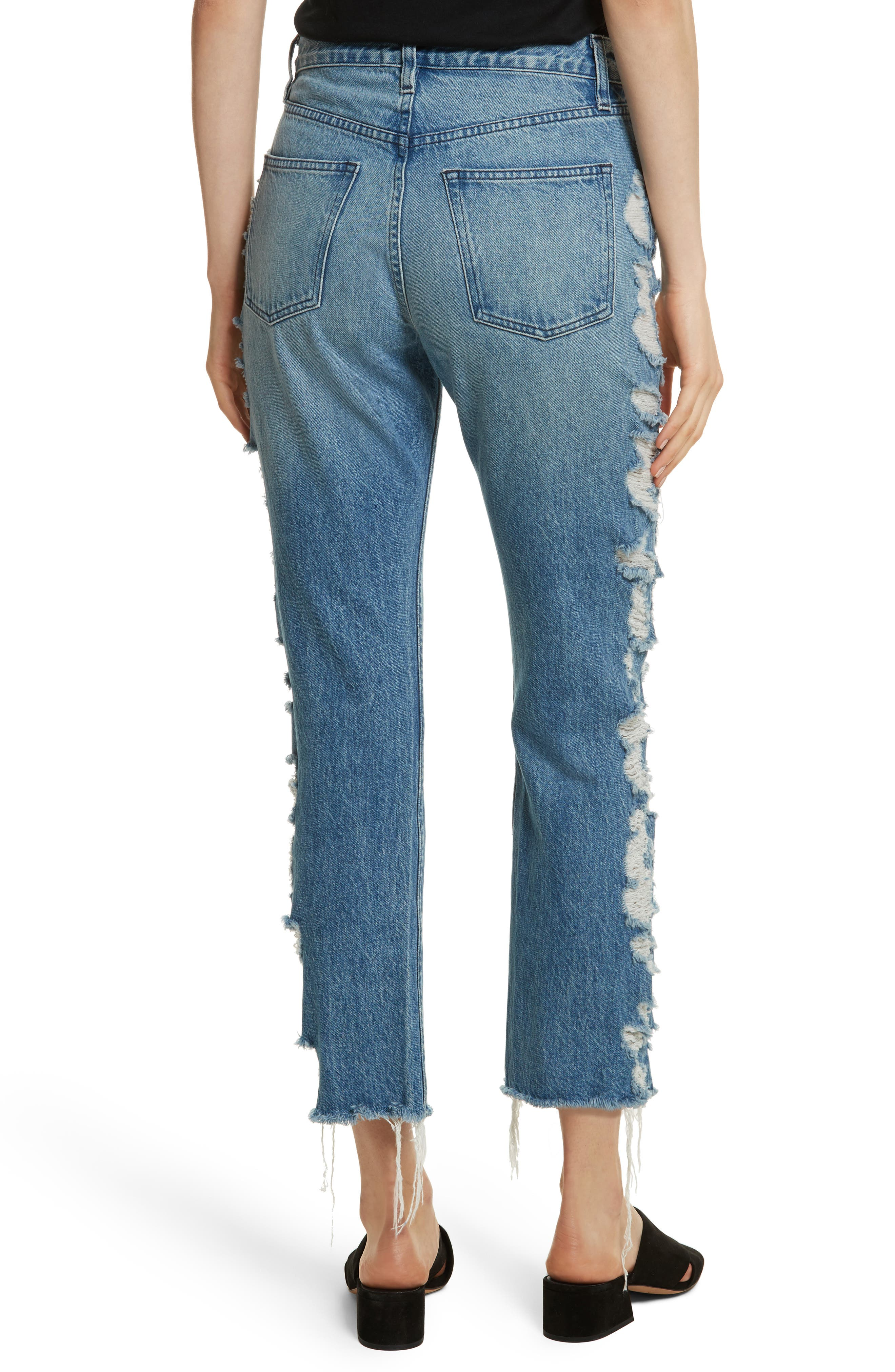 W3 Higher Ground Distressed Ankle Slim Fit Jeans,                             Alternate thumbnail 2, color,                             Dosa