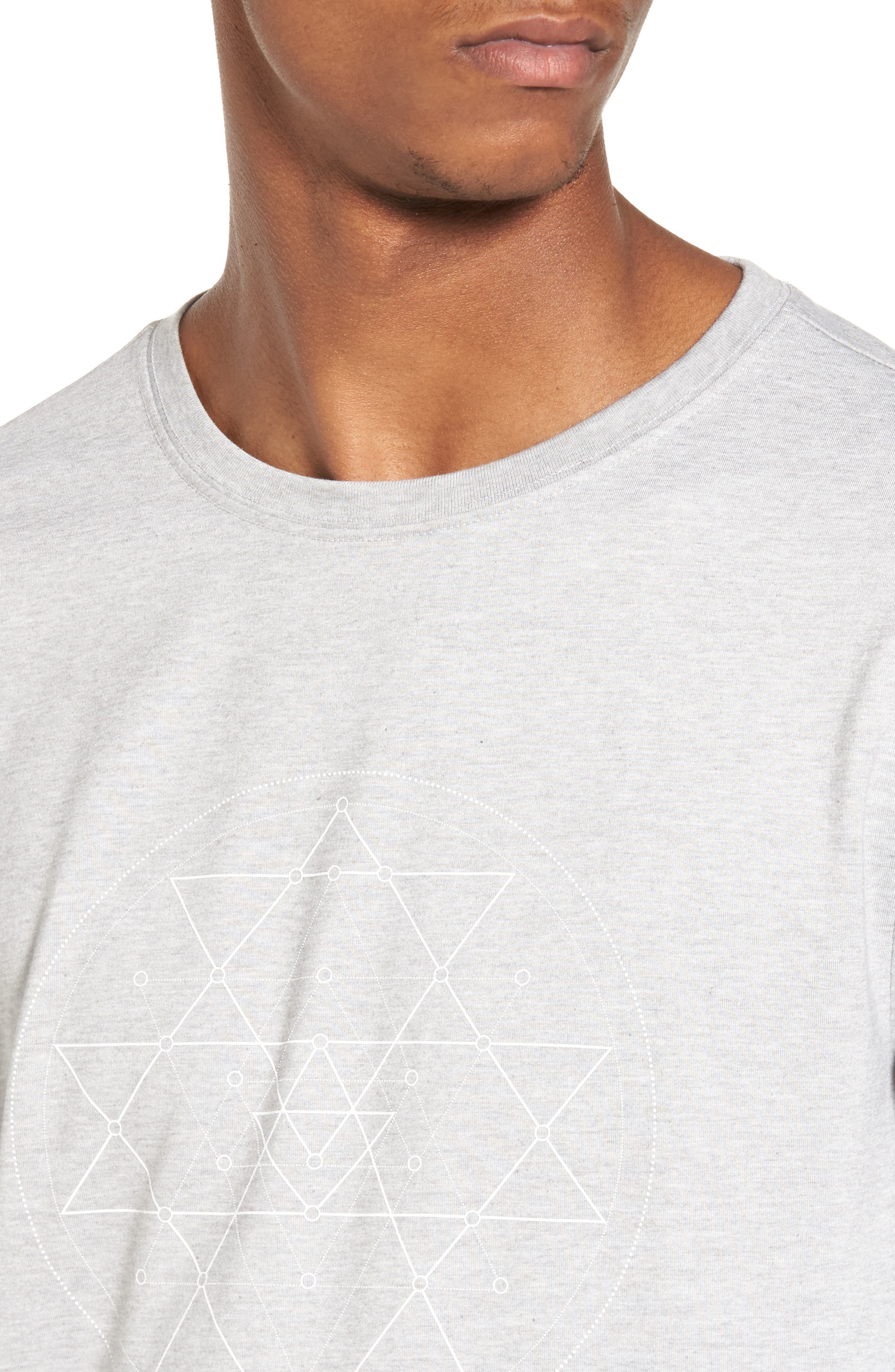 Yantra Long Sleeve T-Shirt,                             Alternate thumbnail 4, color,                             Heather Grey/ Heather Grey
