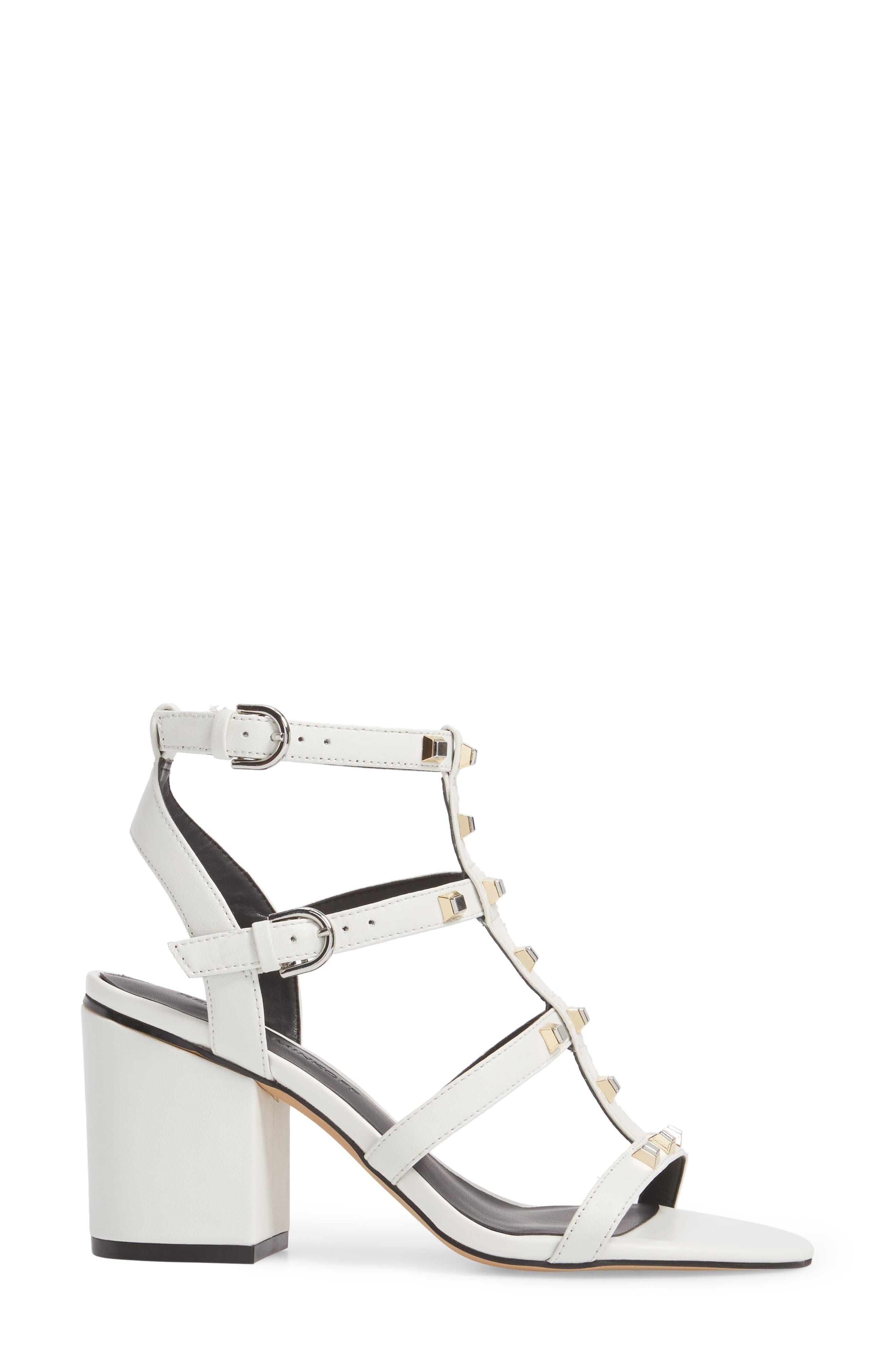 Lenore Sandal,                             Alternate thumbnail 3, color,                             Optic White Leather