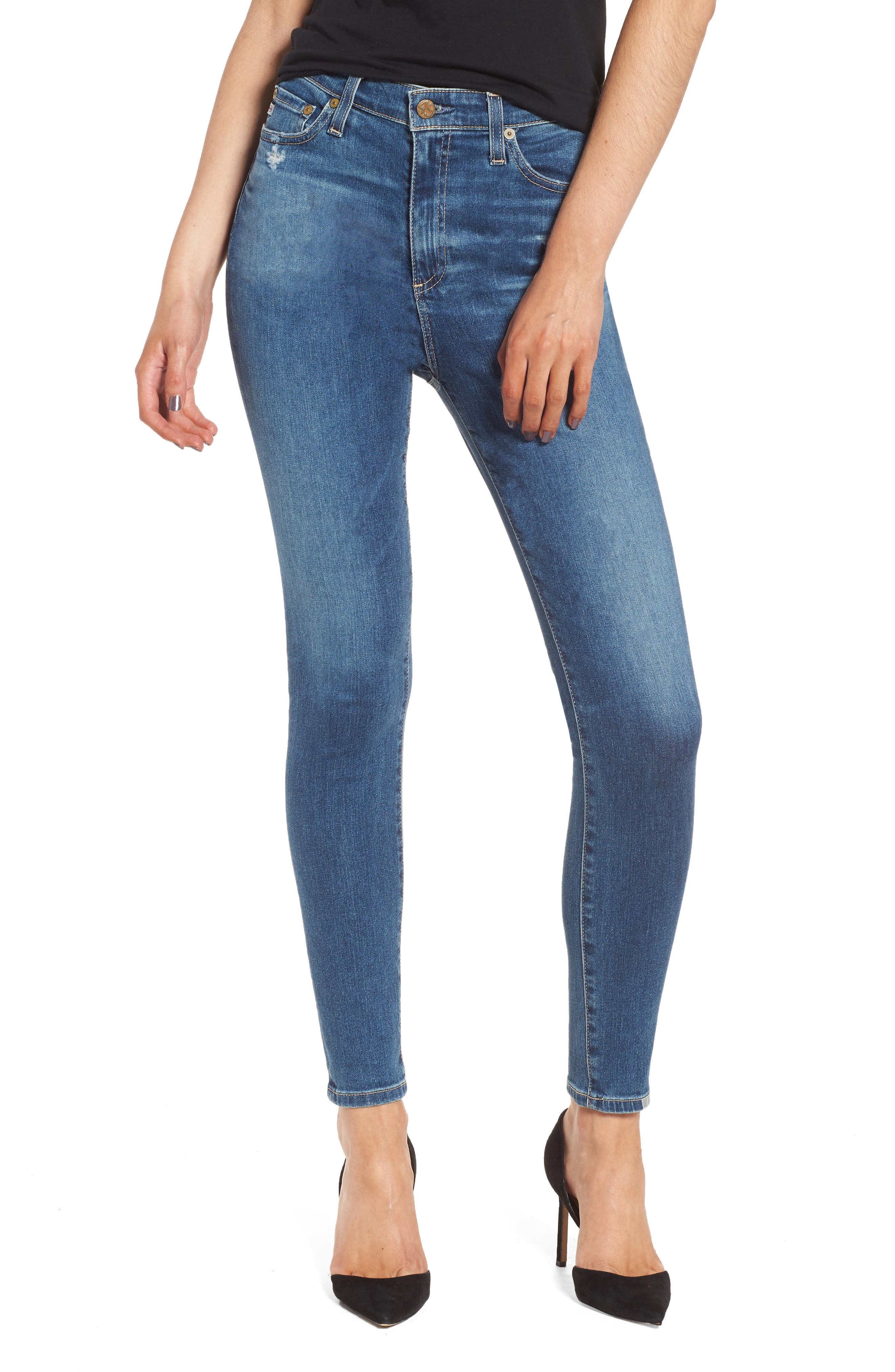 Mila Ankle Skinny Jeans,                         Main,                         color, 8 Years Infamy