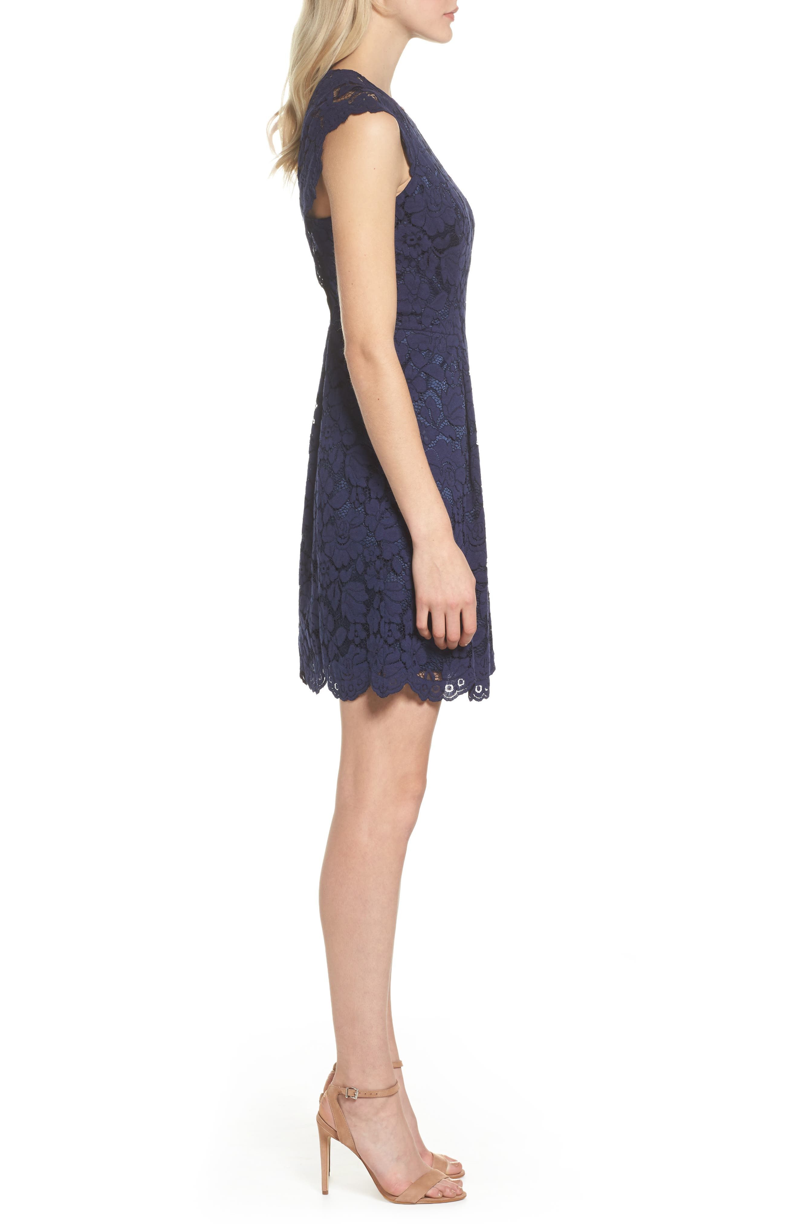 Alternate Image 3  - Vince Camuto Lace Fit & Flare Dress