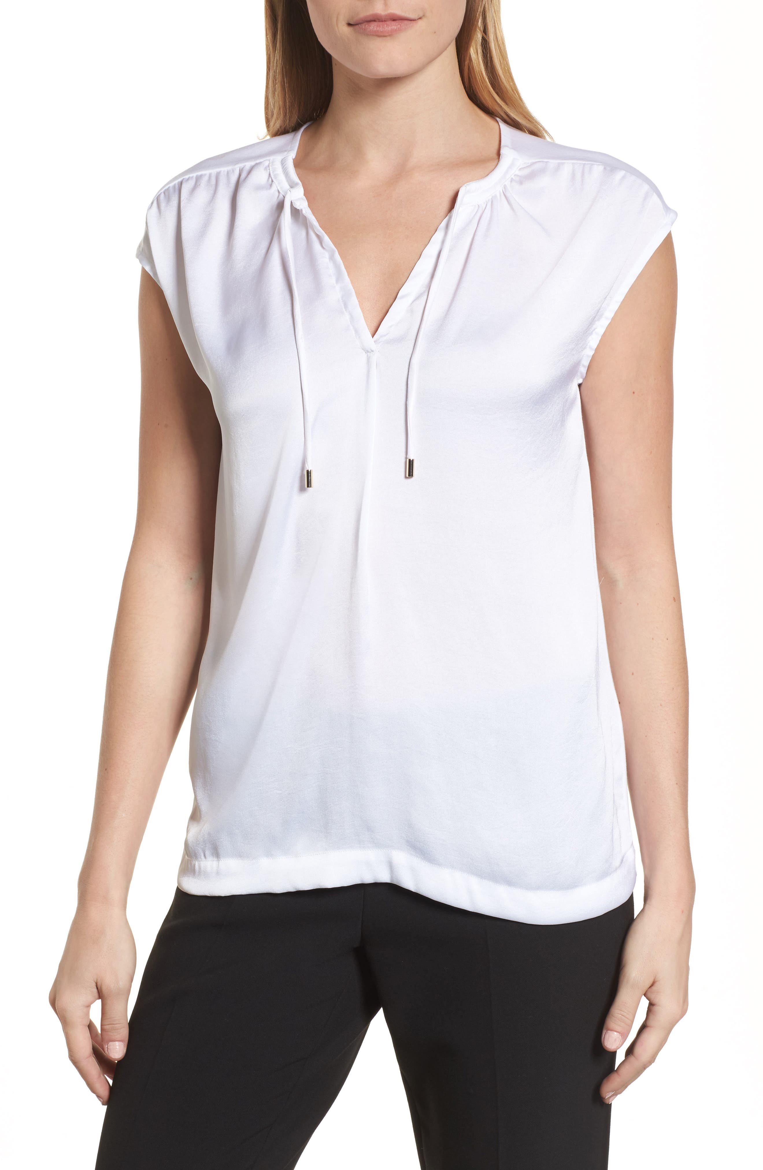 ENiSY  >> Boss Enisy Tie Neck Top Nordstrom