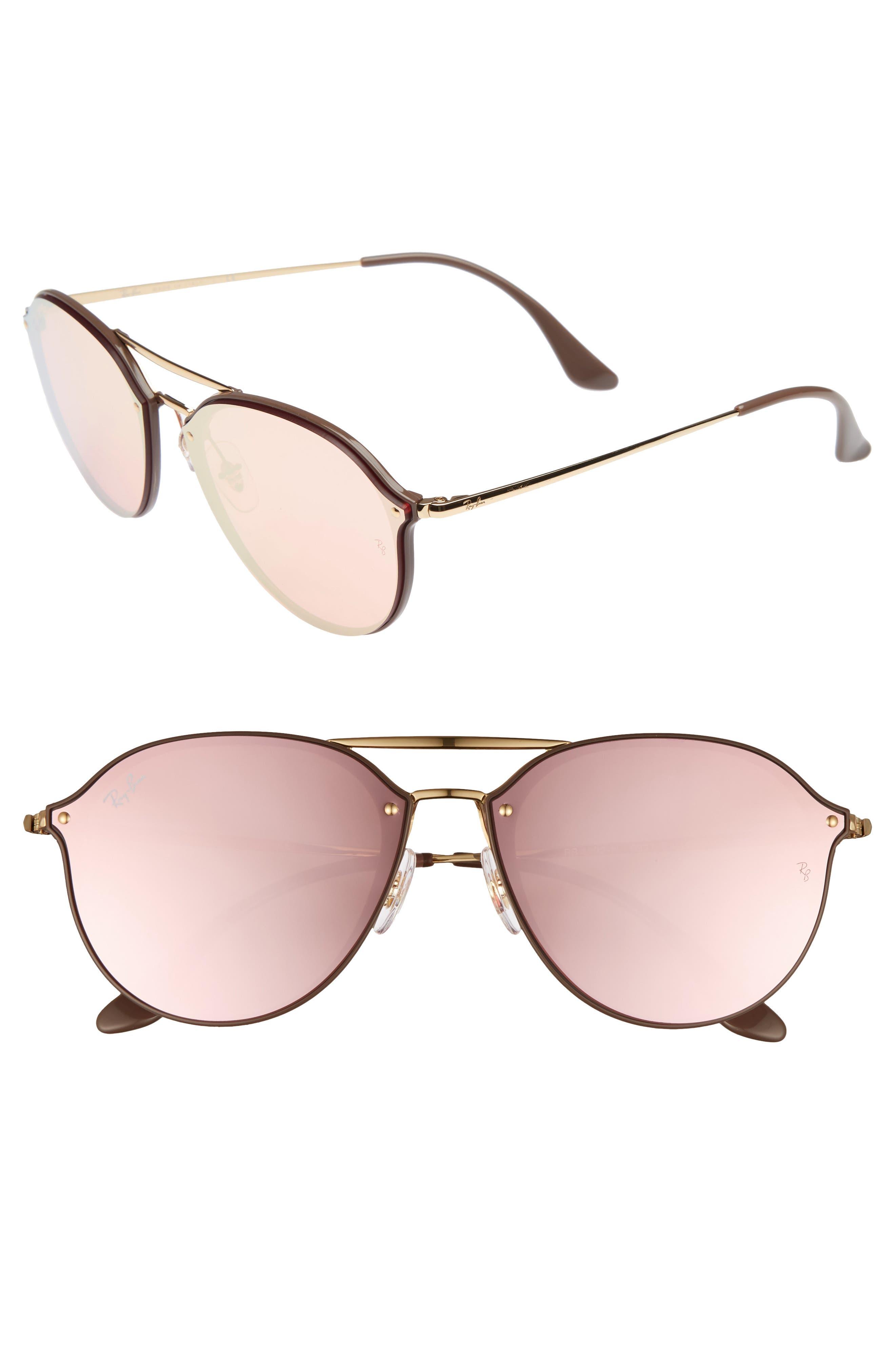 Main Image - Ray-Ban 62mm Mirrored Lens Aviator Sunglasses