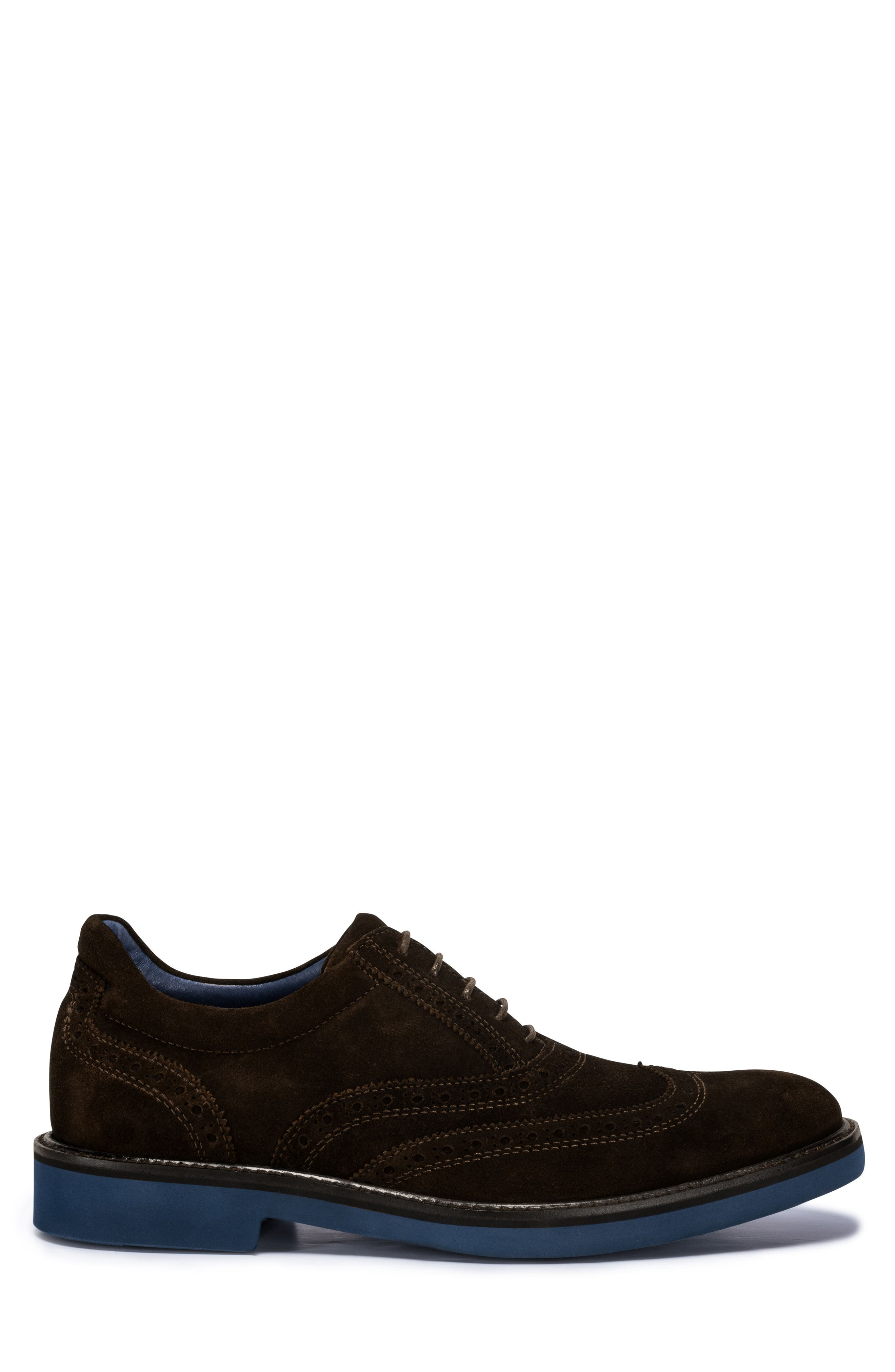 Sorento Wingtip,                             Alternate thumbnail 3, color,                             Brown Leather