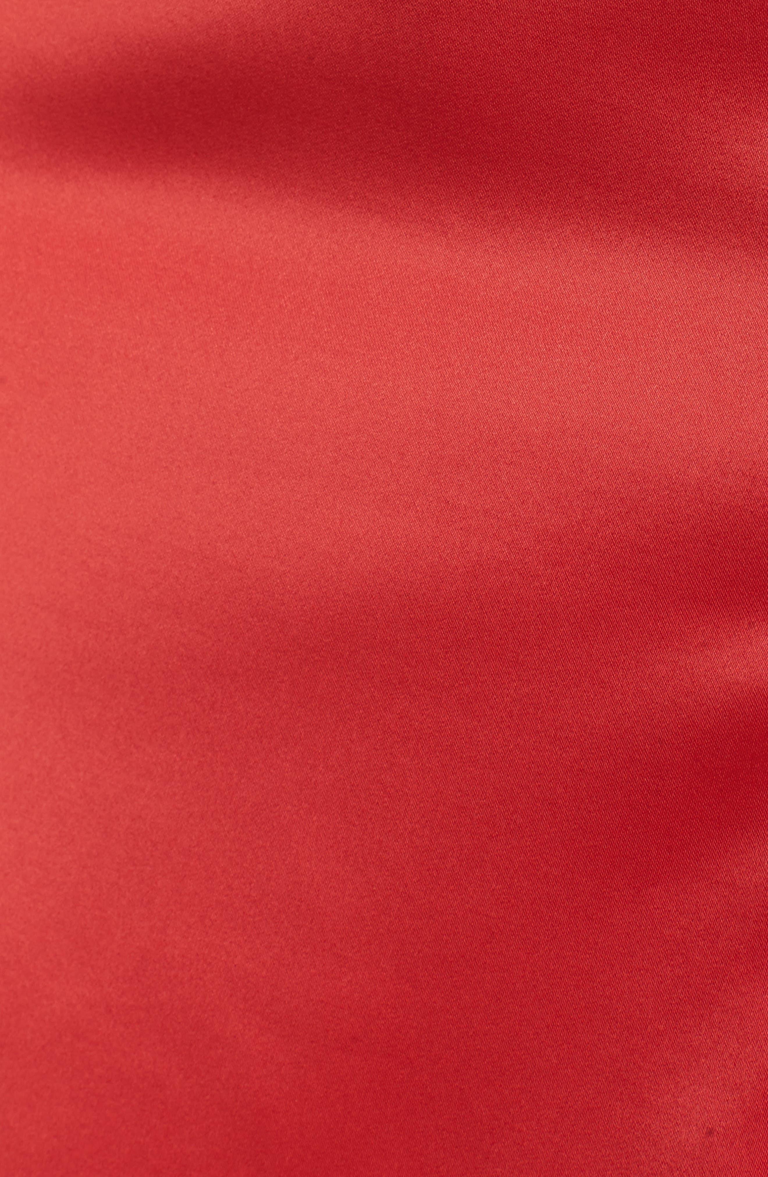 Meagan Midi Dress,                             Alternate thumbnail 5, color,                             Red