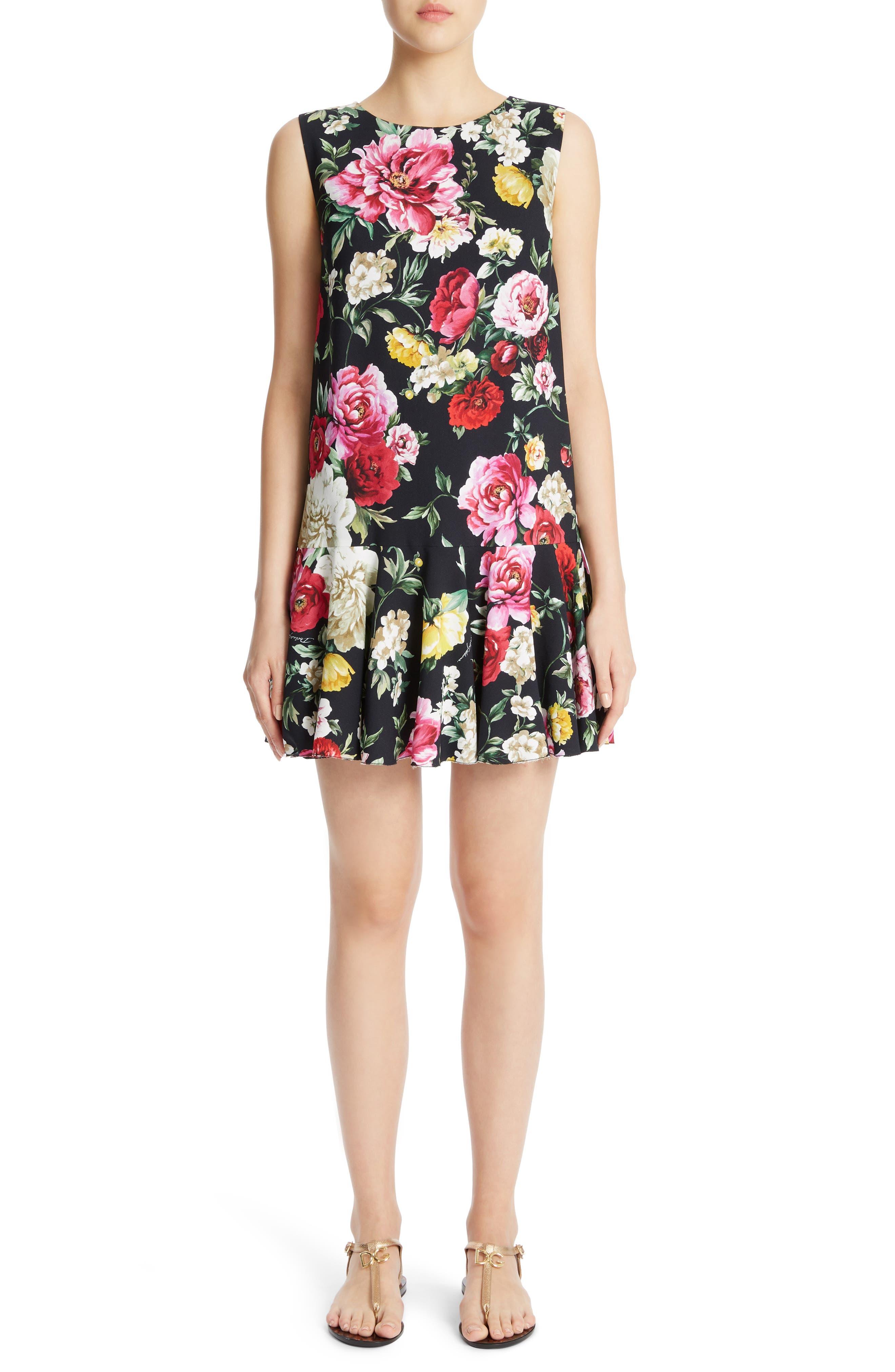 Dolce&Gabbana Floral Print Drop Waist Dress