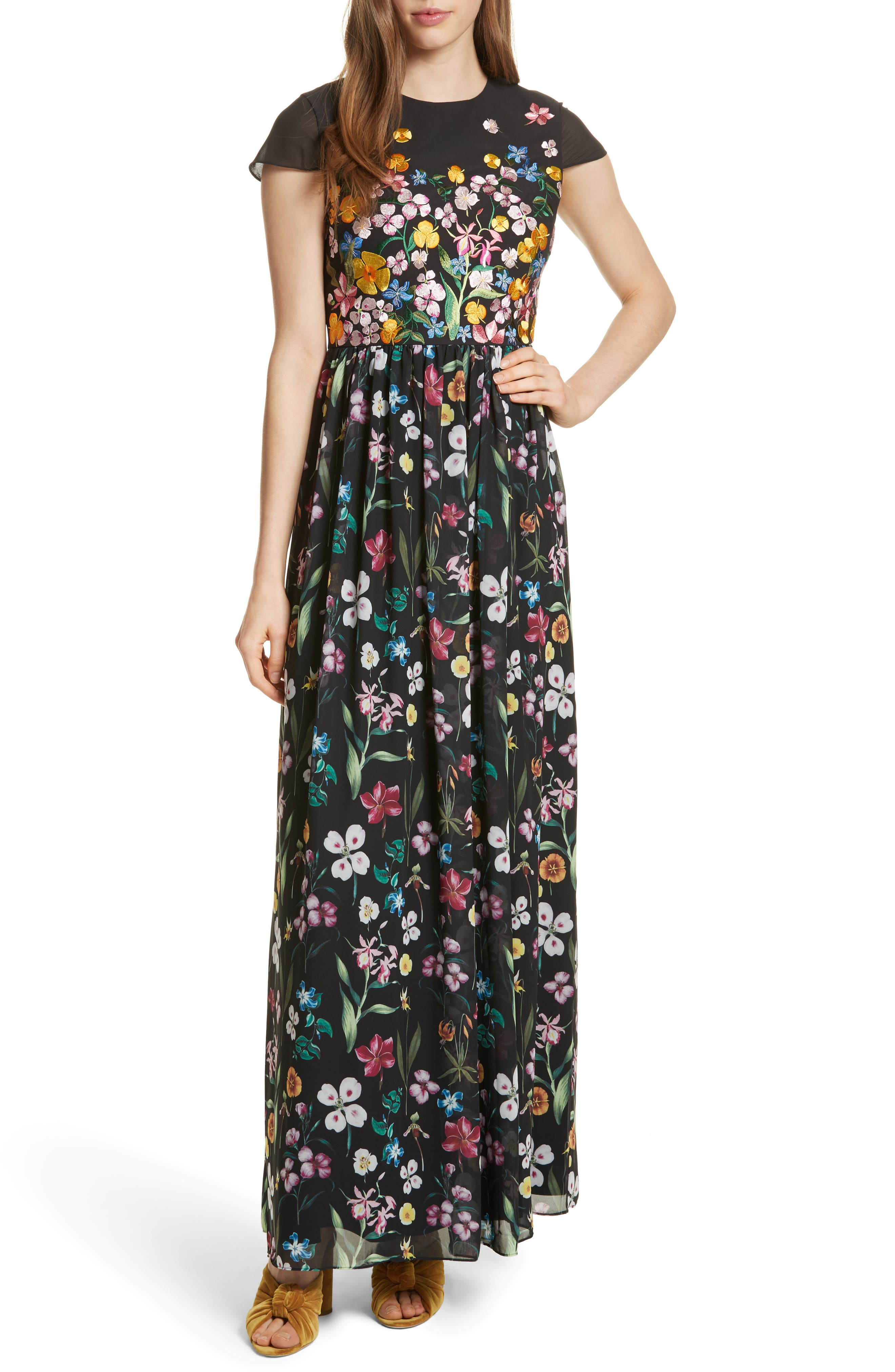 Hampton Maxi Dress,                             Main thumbnail 1, color,                             Black