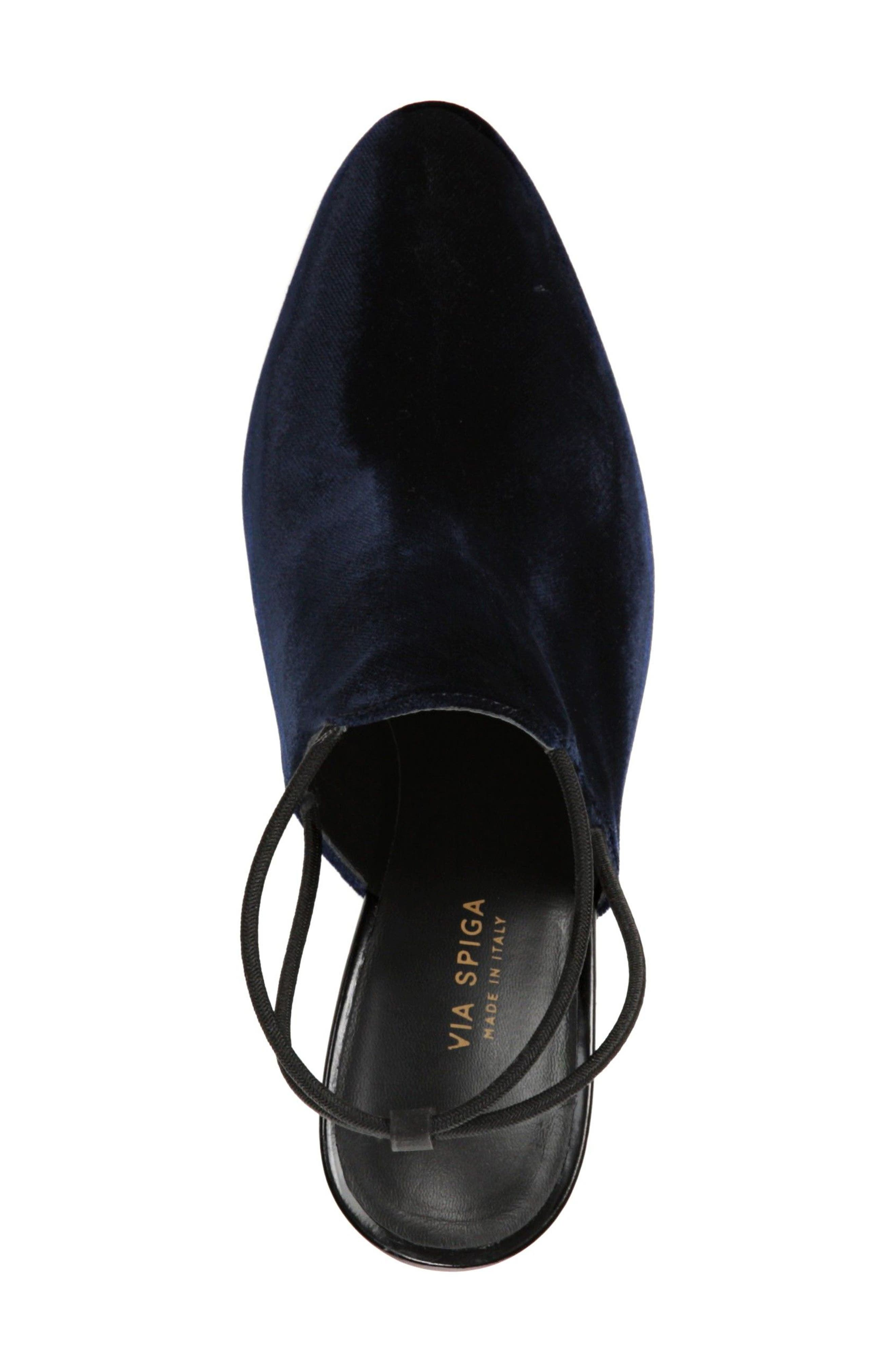 Arina Slingback Pump,                             Alternate thumbnail 5, color,                             Midnight Fabric