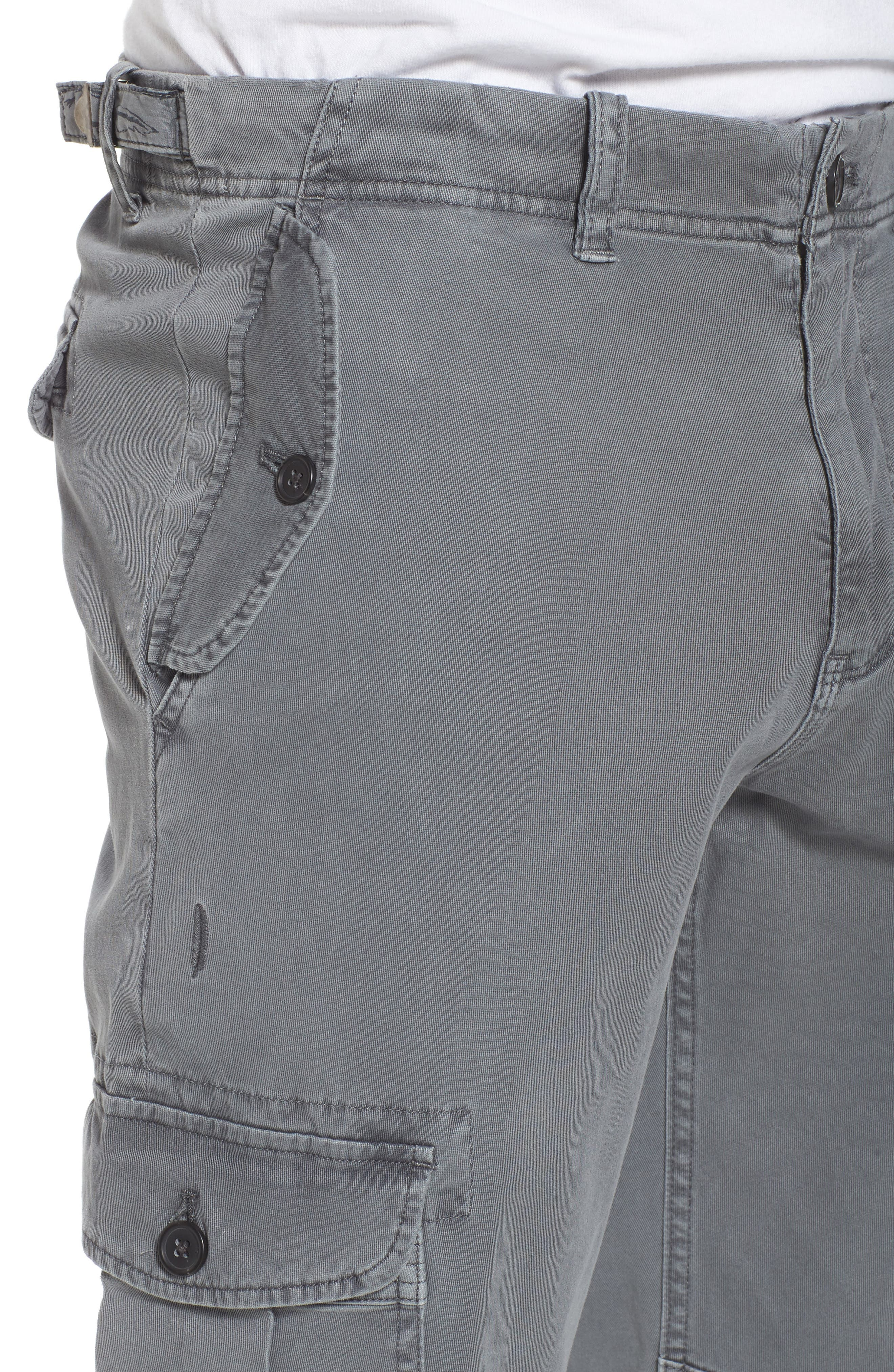 Stretch Twill Cargo Pants,                             Alternate thumbnail 4, color,                             Gray