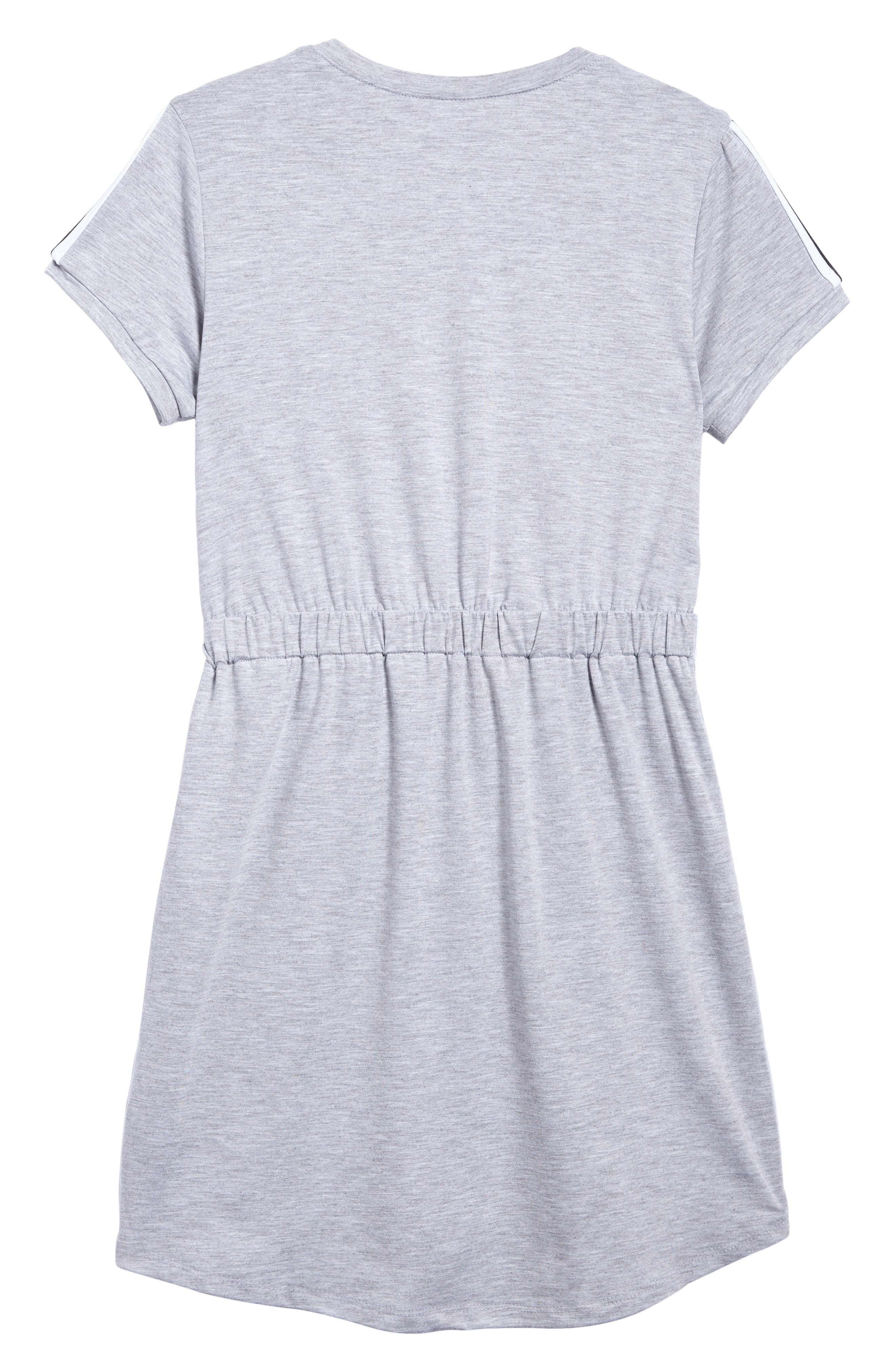 Sporty T-Shirt Dress,                             Alternate thumbnail 2, color,                             Heather Grey