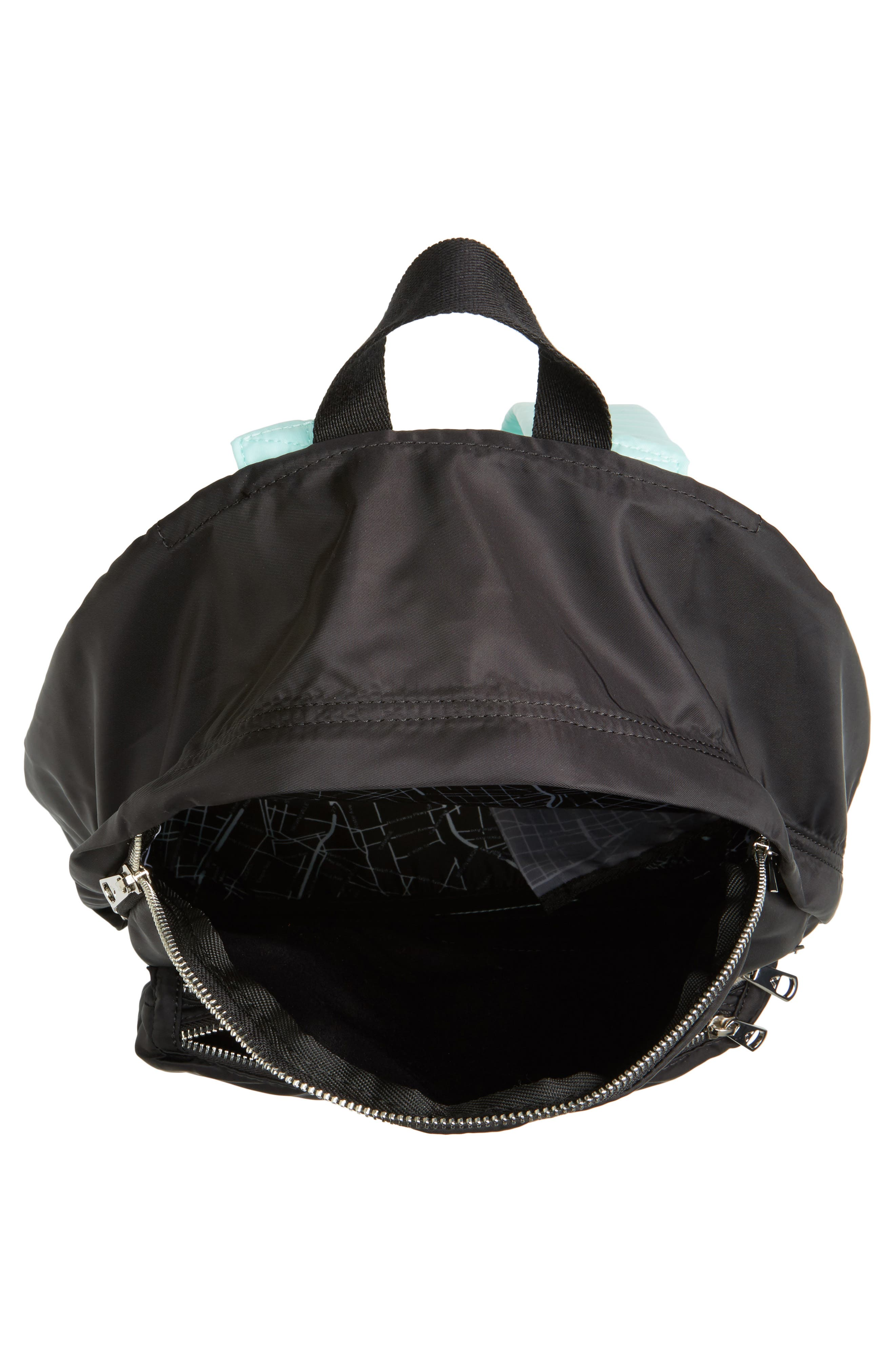 The Heights Adams Backpack,                             Alternate thumbnail 4, color,                             Black/ Mint