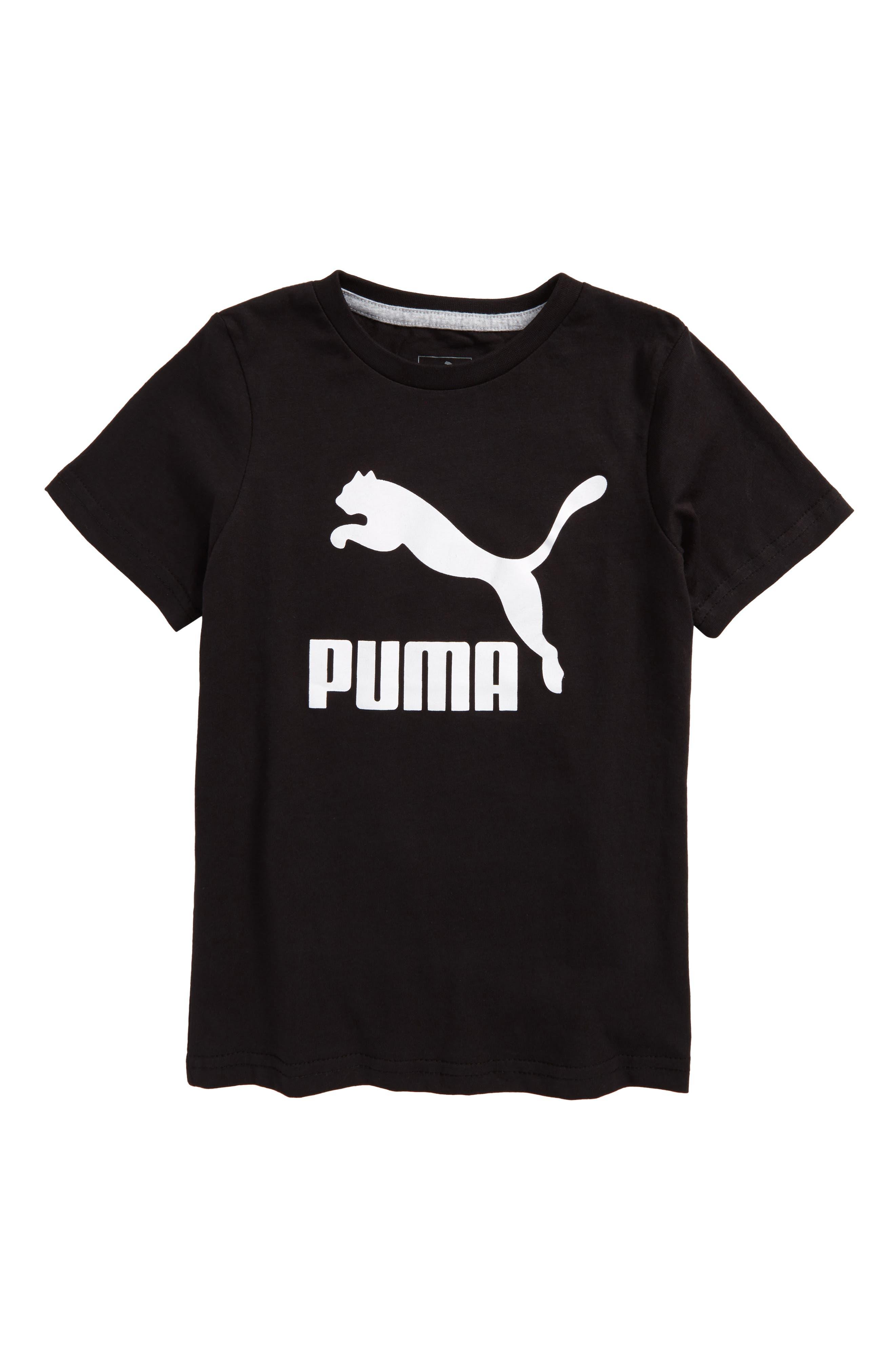 Logo Graphic T-Shirt,                             Main thumbnail 1, color,                             Puma Black