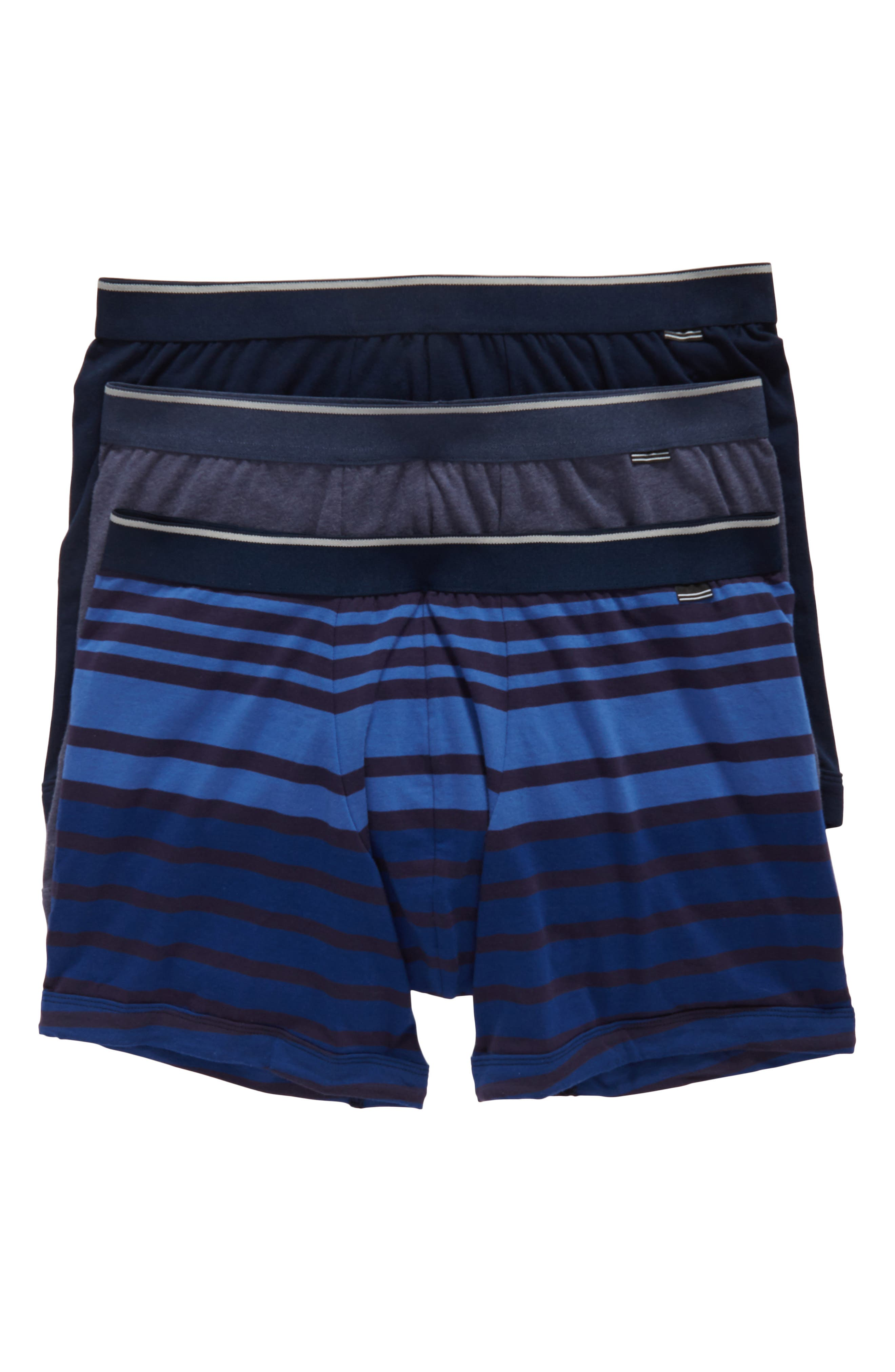 3-Pack Boxer Briefs,                         Main,                         color, Navy/ Navy-Blue Stripe