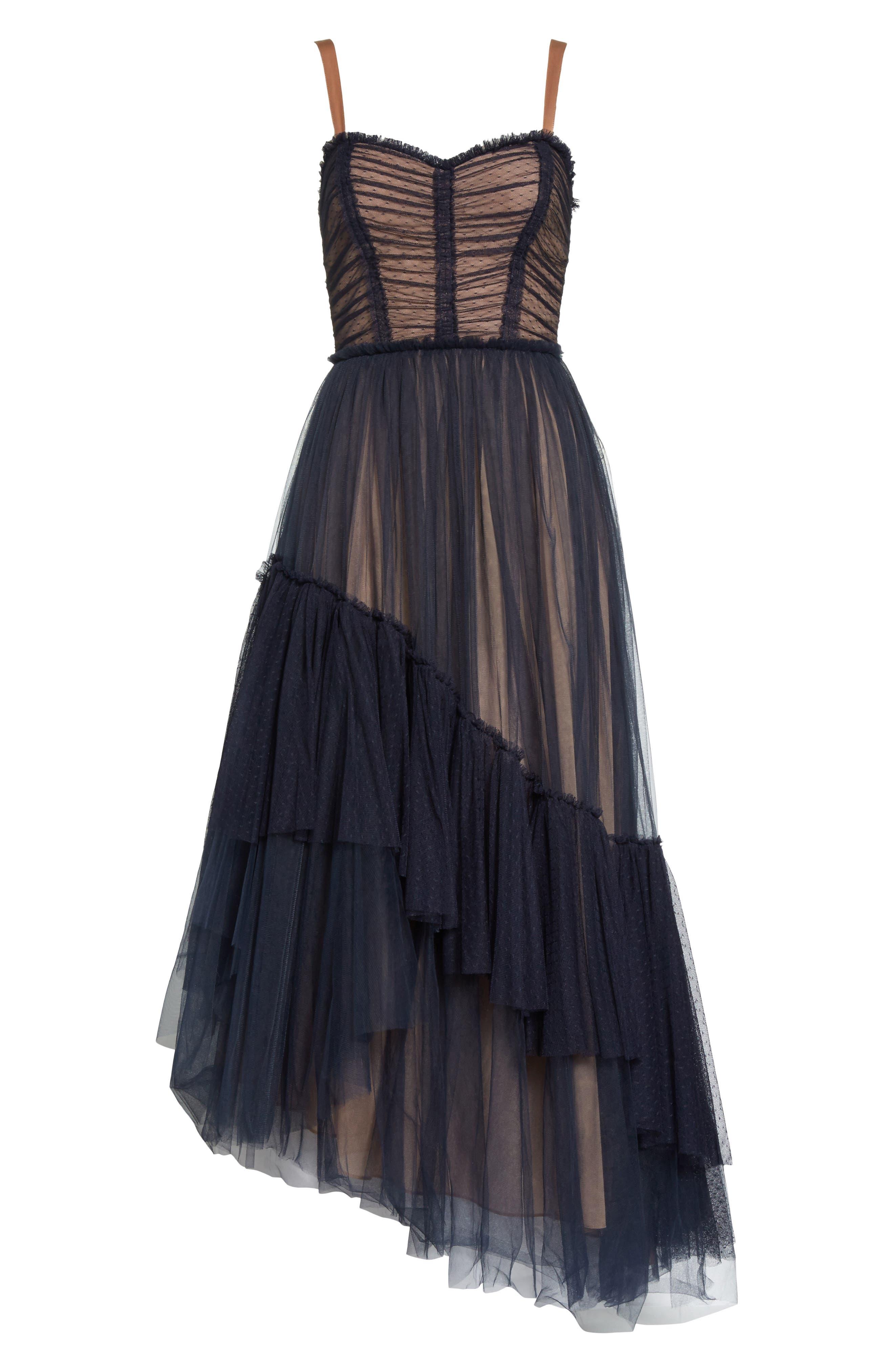 Alternate Image 6  - Cinq à Sept Coletta Asymmetrical Tulle Dress