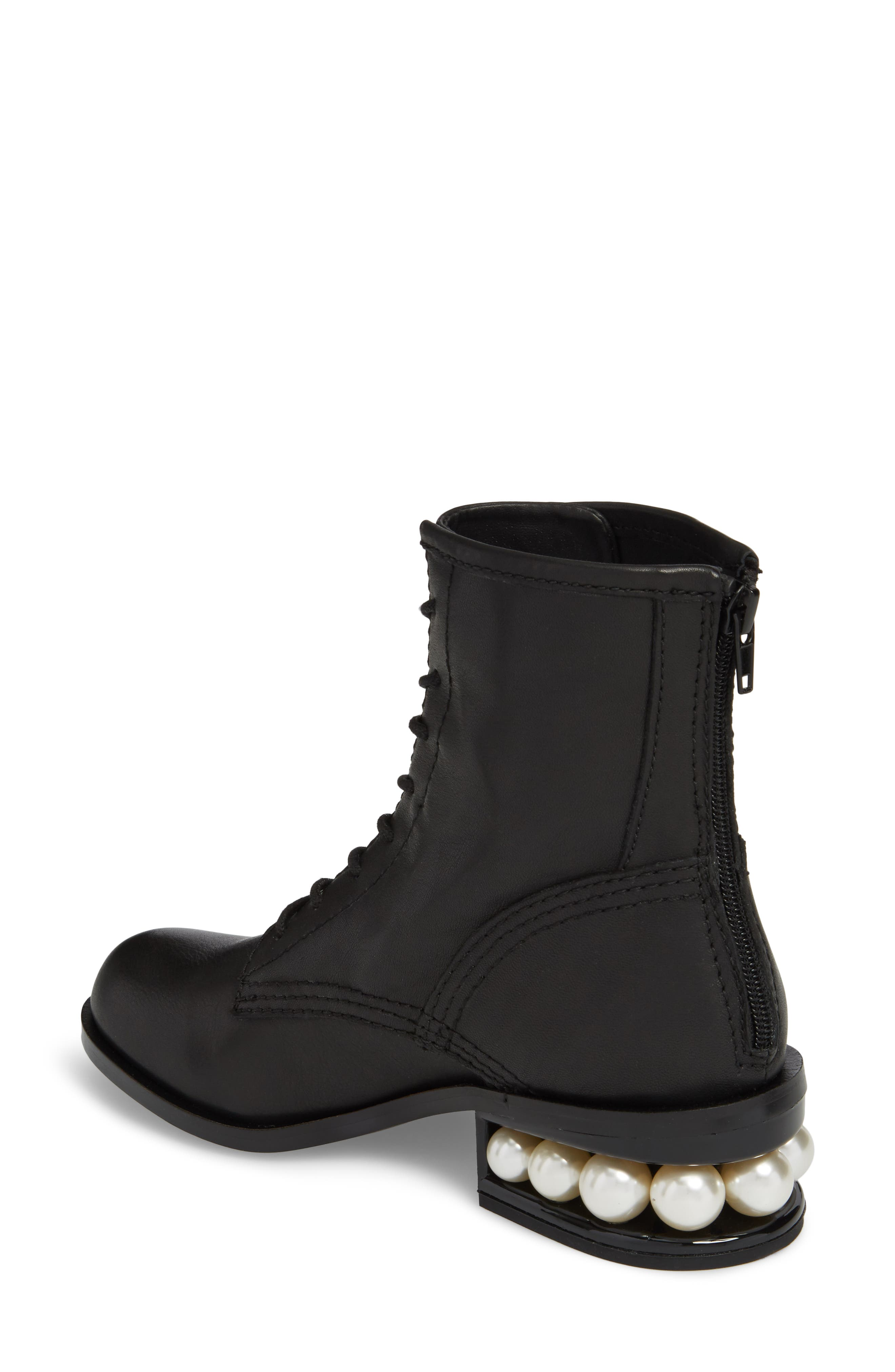 Pixy Statement Heel Boot,                             Alternate thumbnail 2, color,                             Black Leather