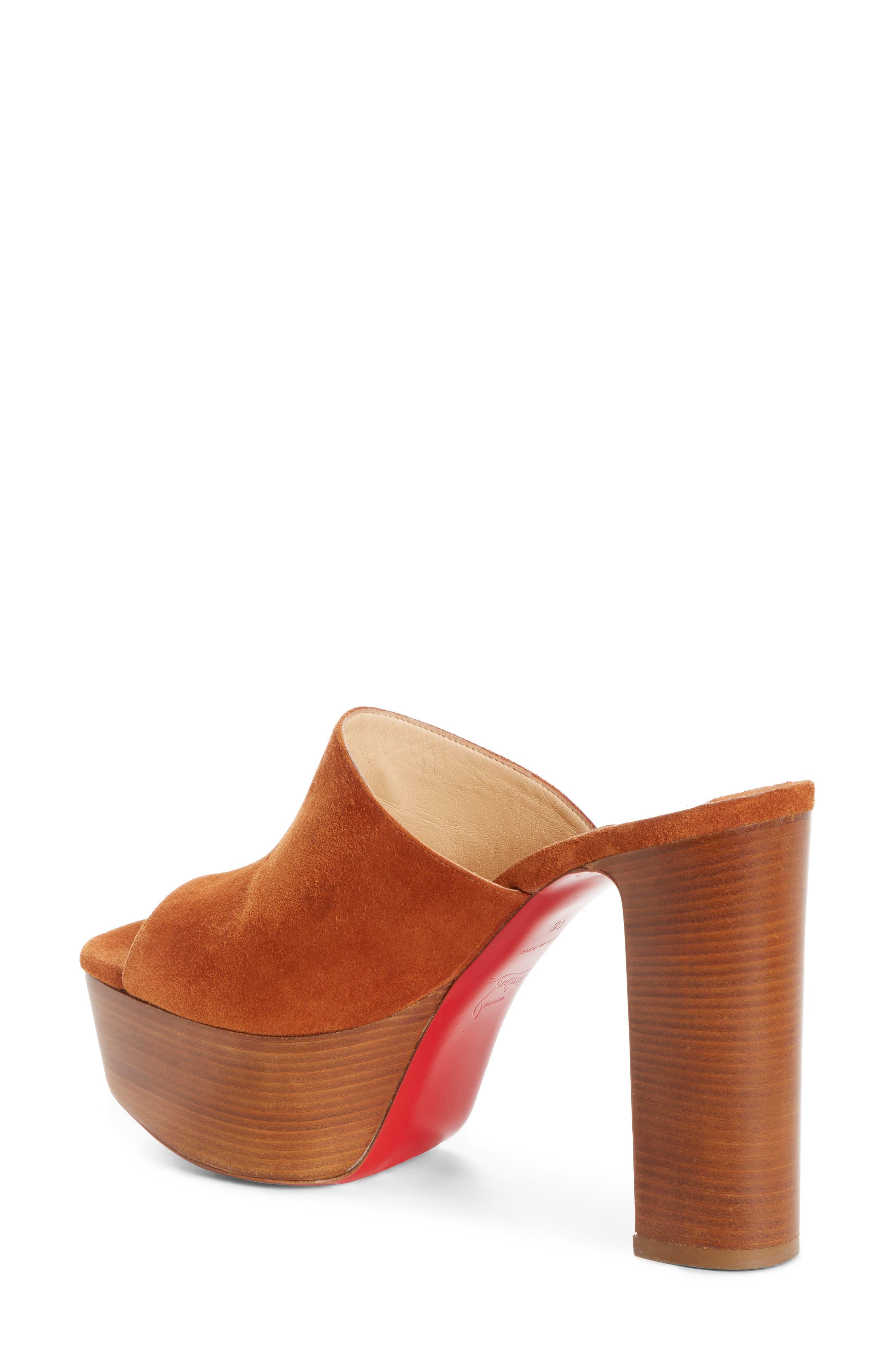 Alternate Image 2  - Christian Louboutin Suede Platform Mule Sandal (Women)