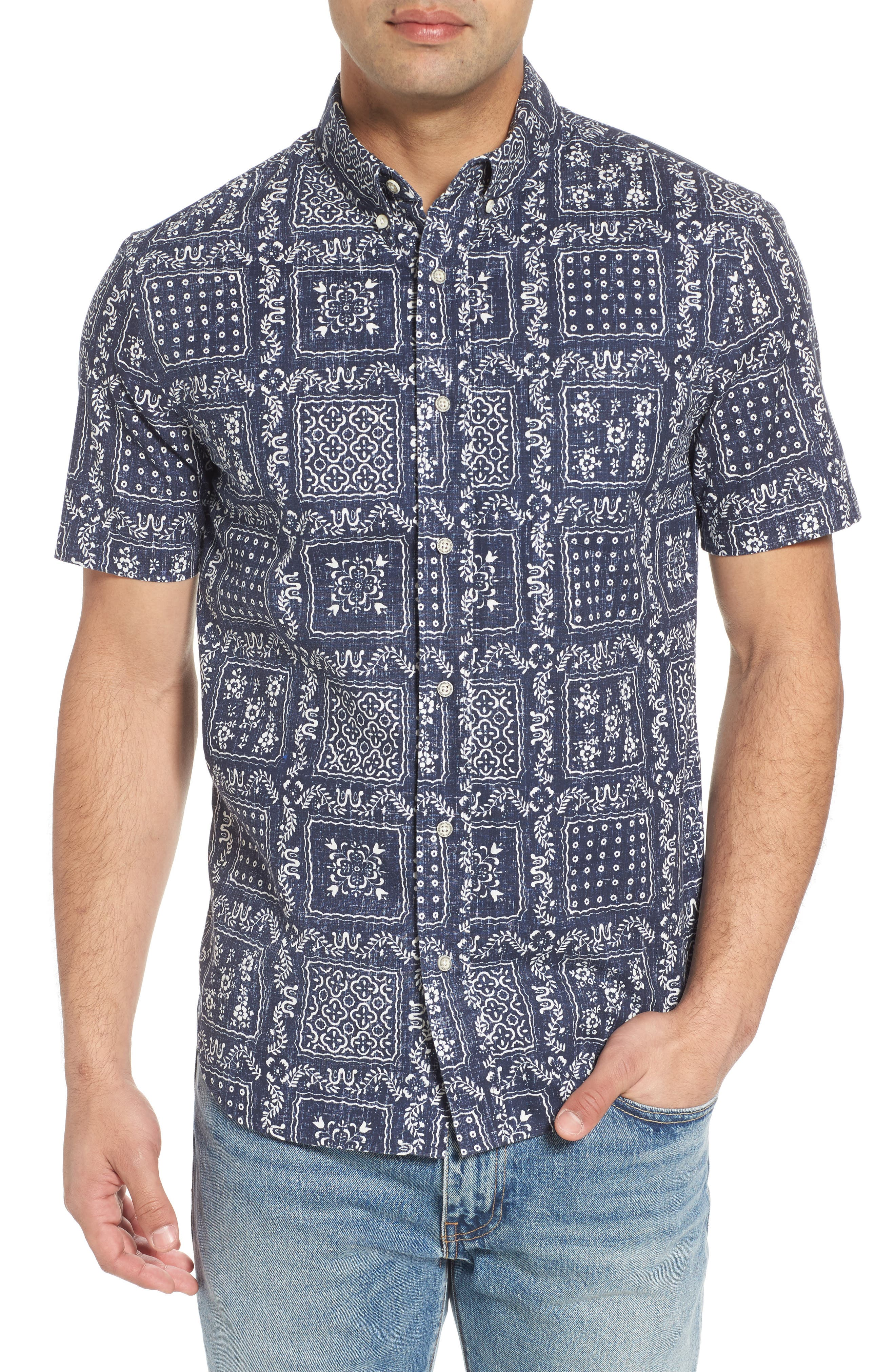 Lahaina Sailor Tailored Fit Sport Shirt,                         Main,                         color, Ink
